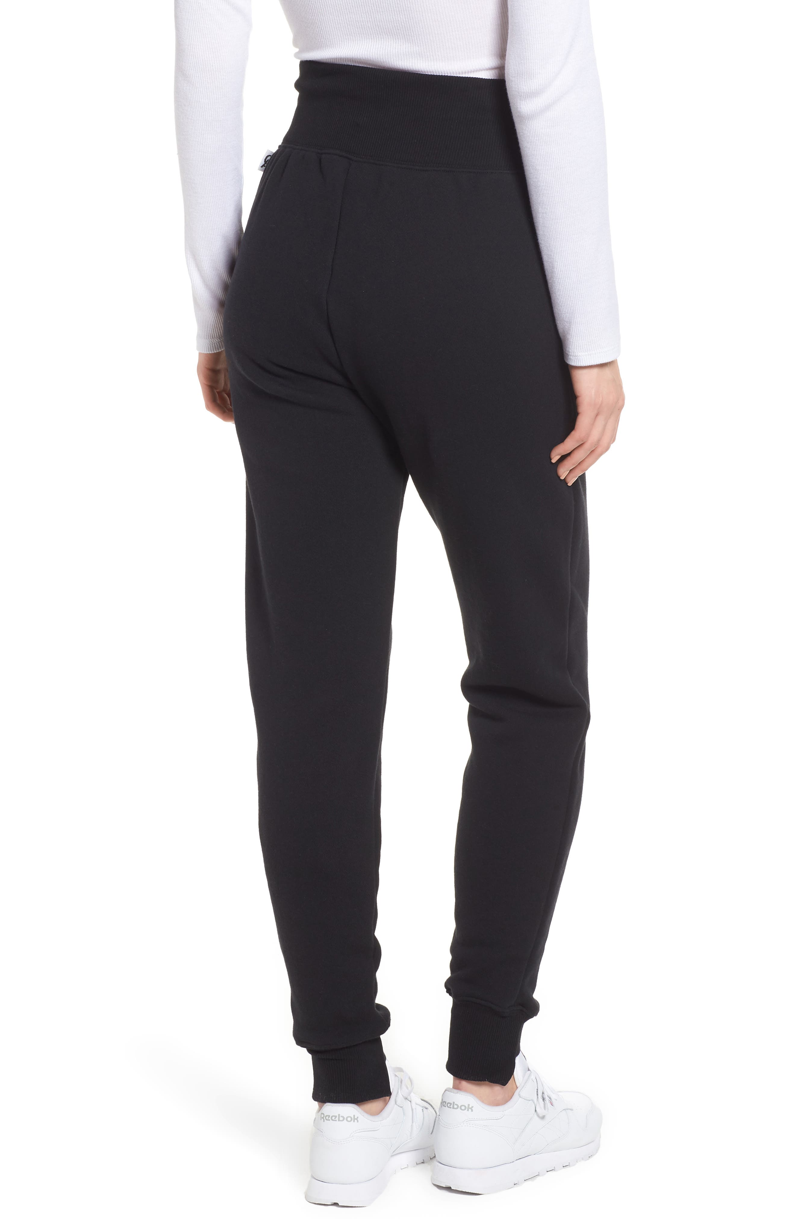 Alternate Image 2  - Good American Good Sweats Step Hem Sweatpants (Regular & Plus Size)
