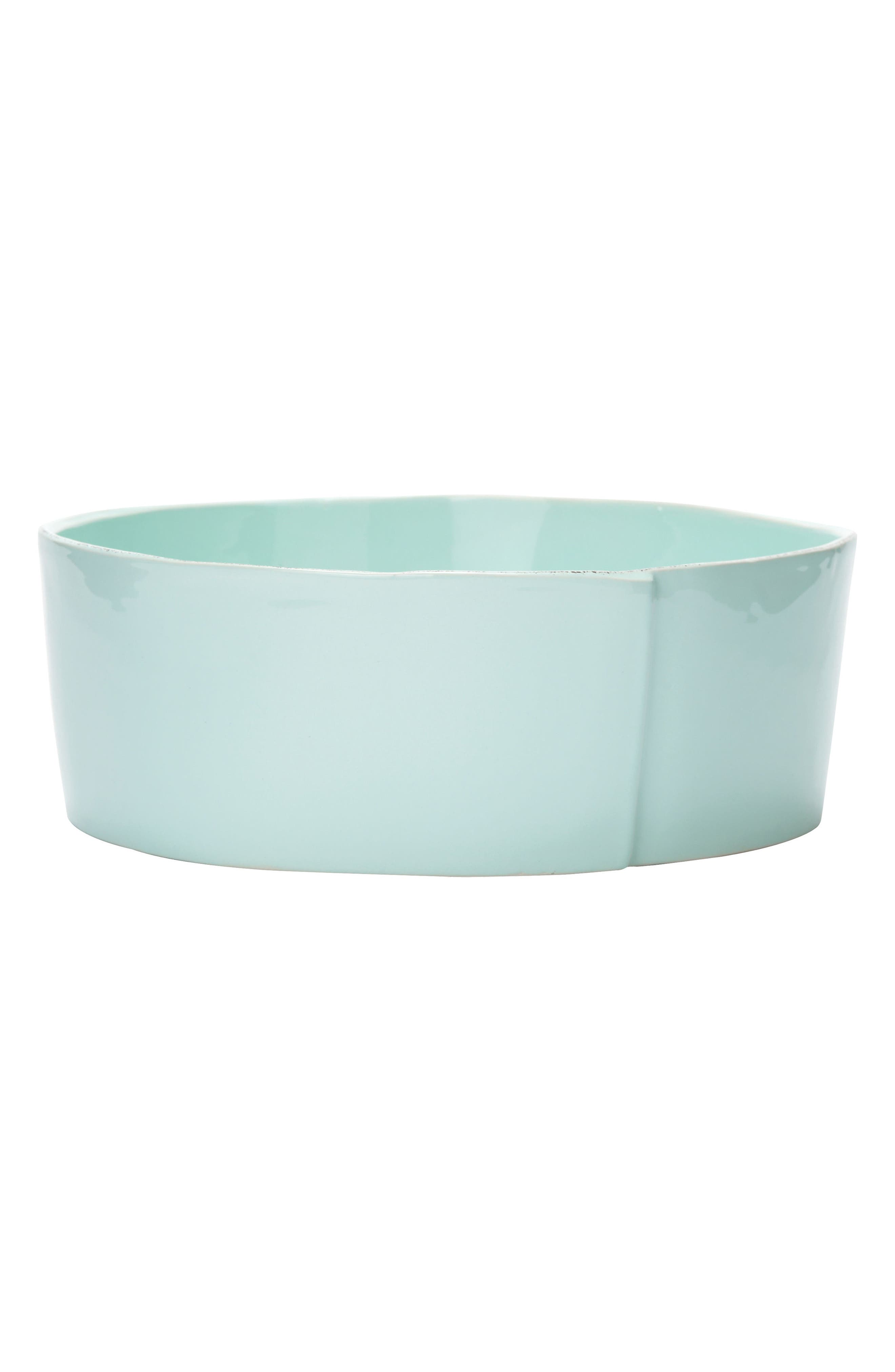 Lastra Serving Bowl,                             Main thumbnail 1, color,                             Aqua - Large
