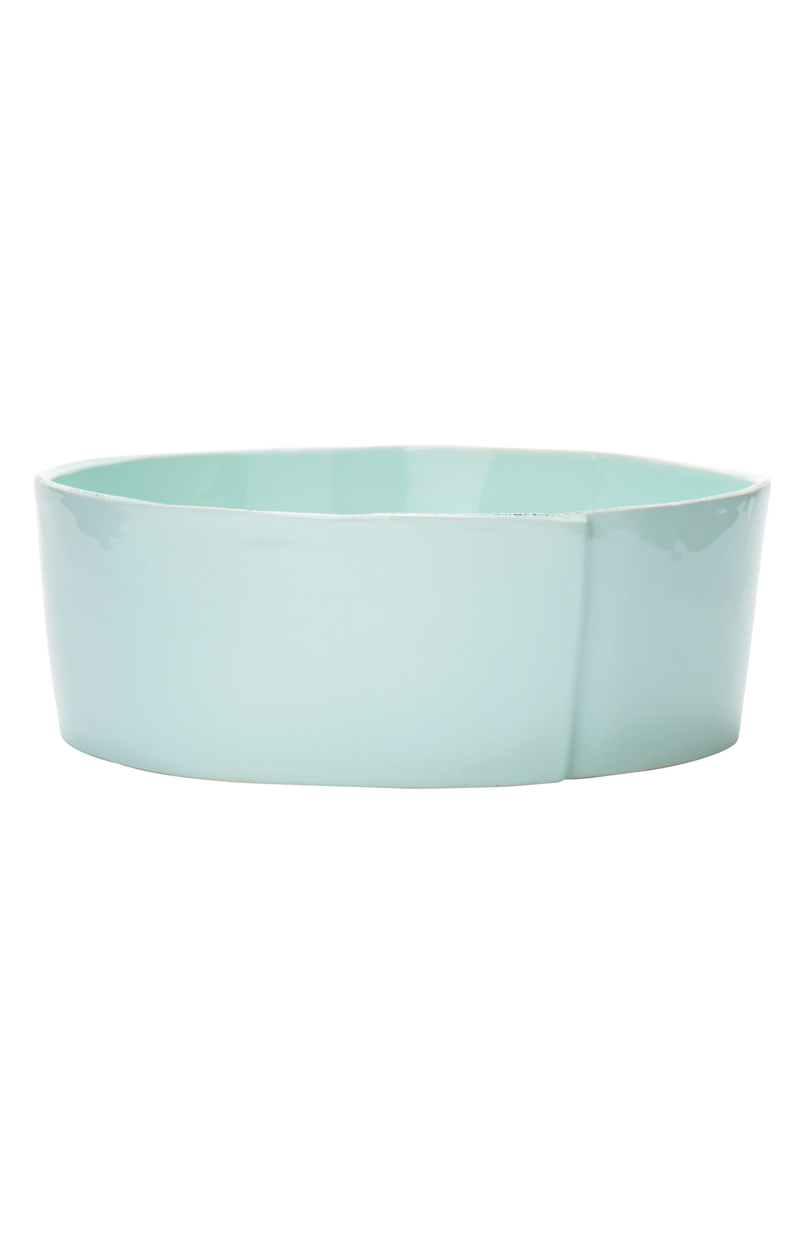 Lastra Serving Bowl,                         Main,                         color, Aqua - Large
