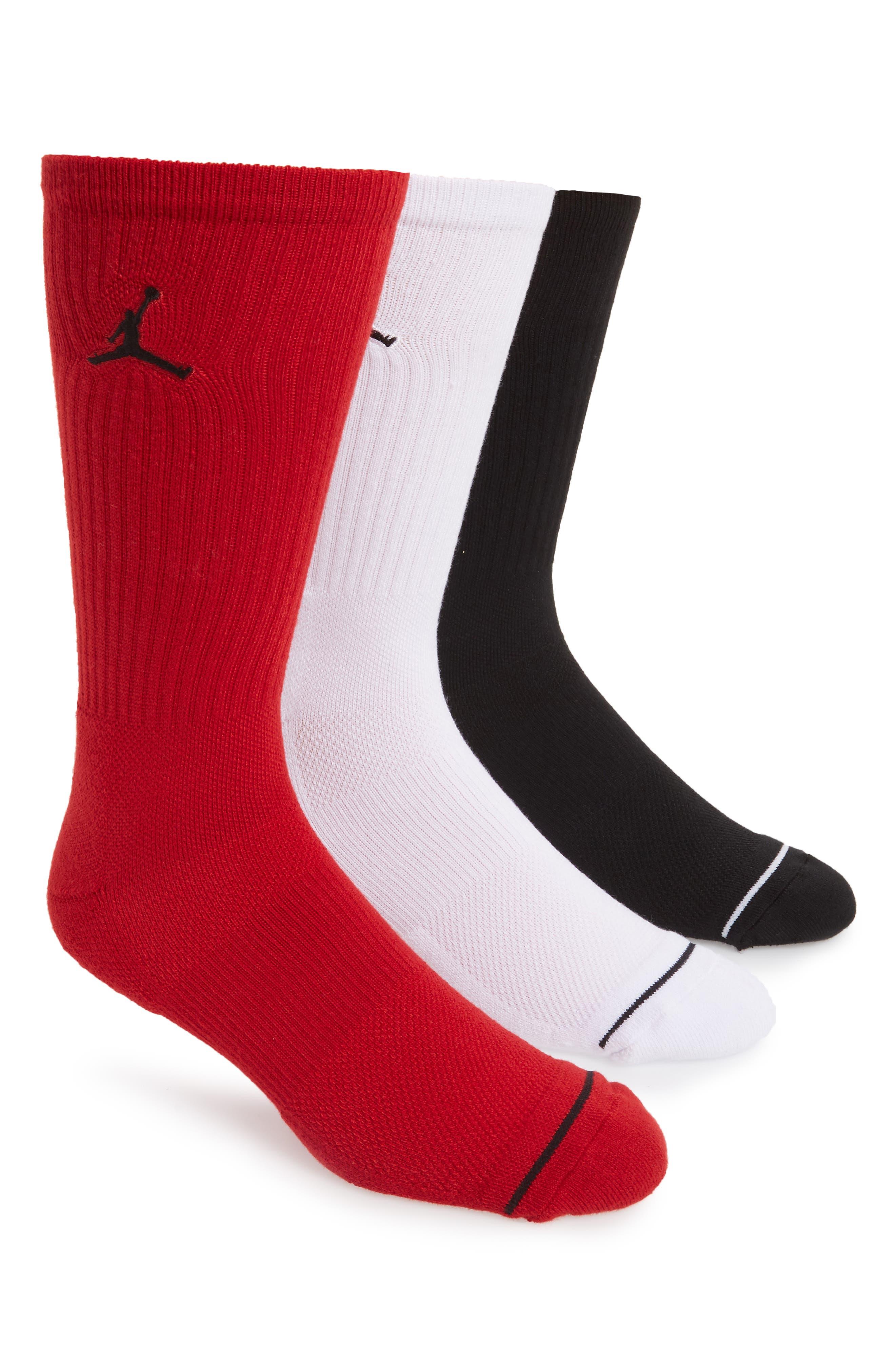 Nike Jumpman 3-Pack Dry Crew Socks