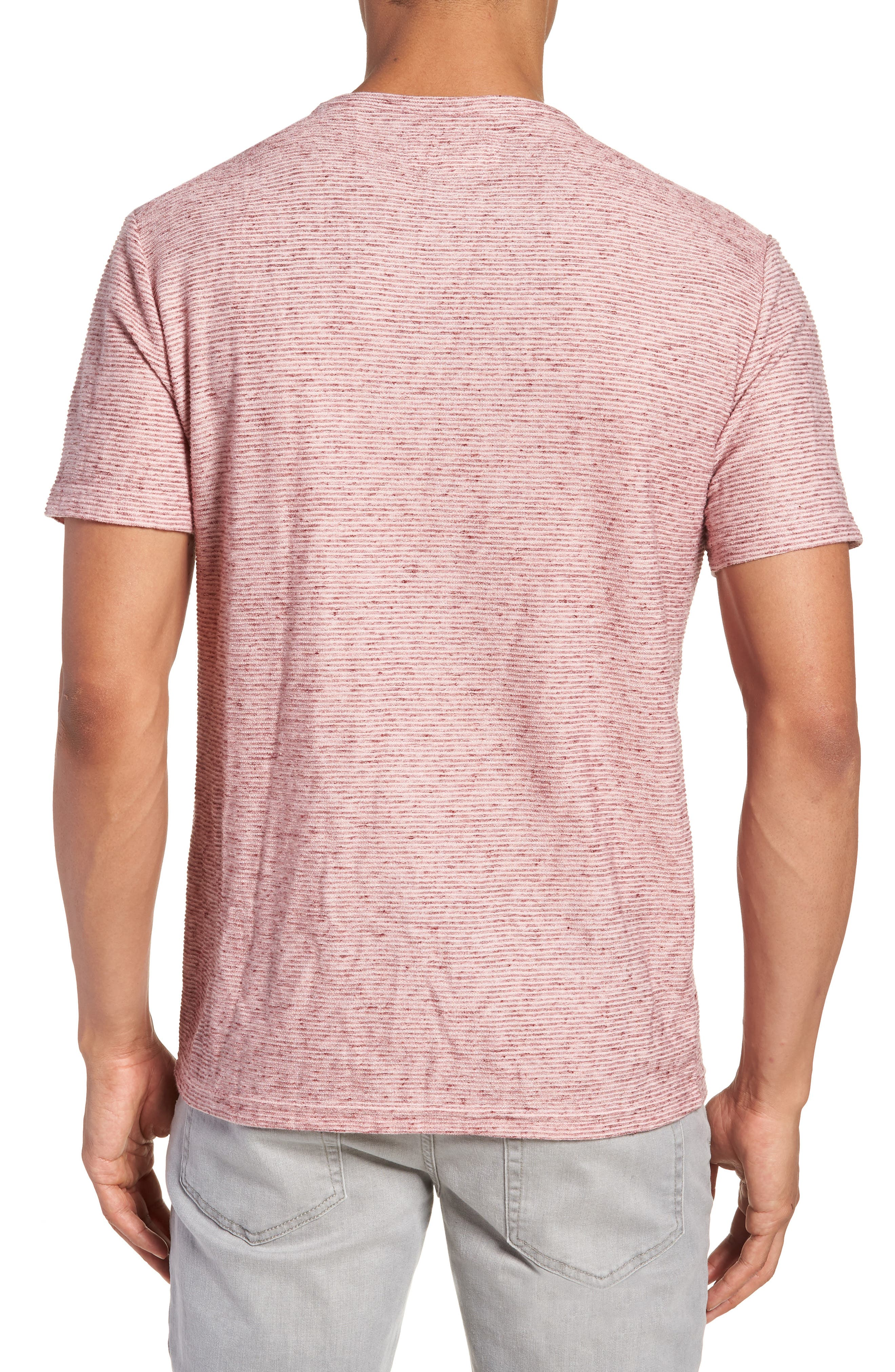 Metro Textured Henley Shirt,                             Alternate thumbnail 2, color,                             Red