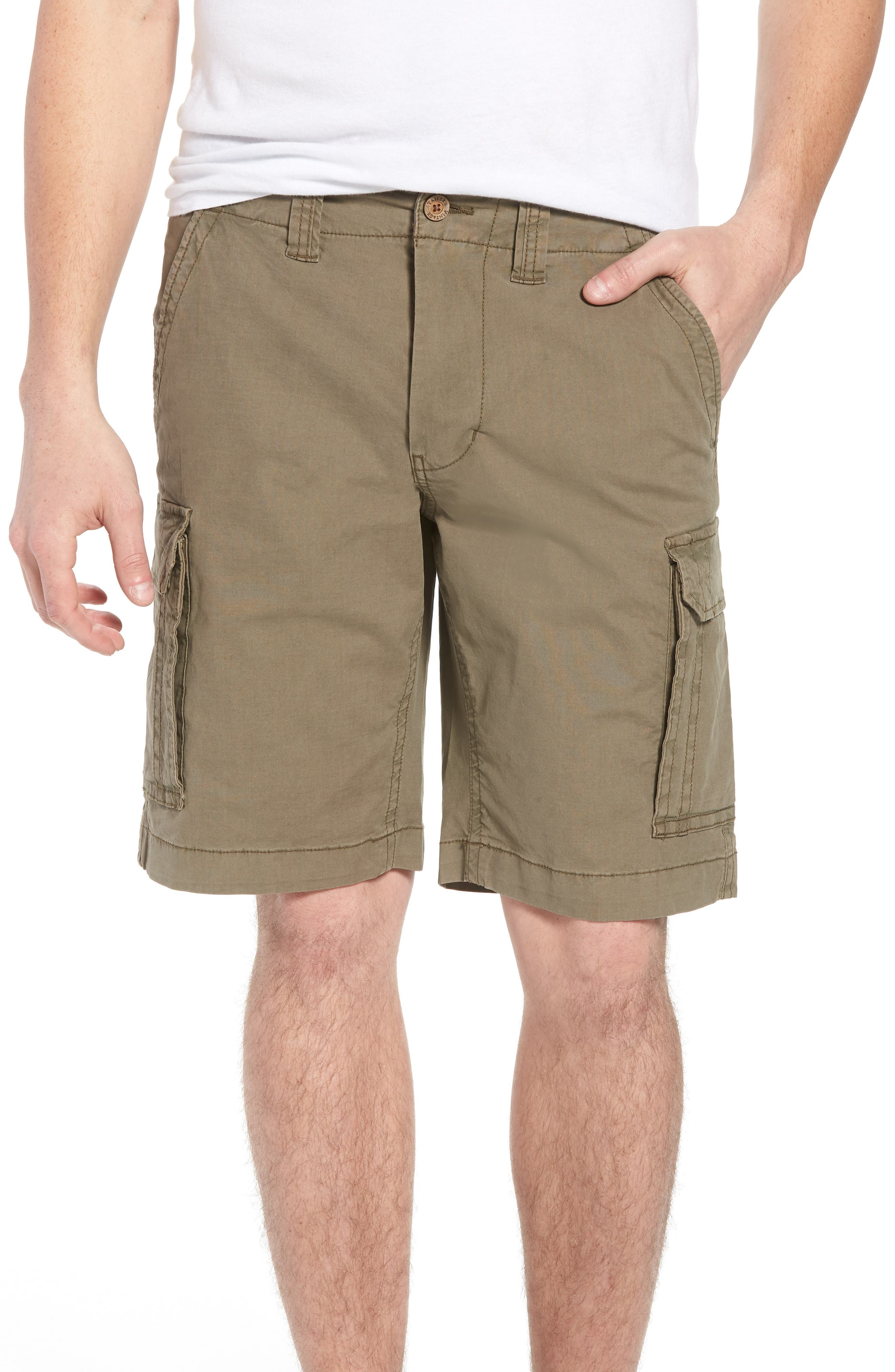 Stretch Canvas Cargo Shorts,                             Main thumbnail 1, color,                             Army