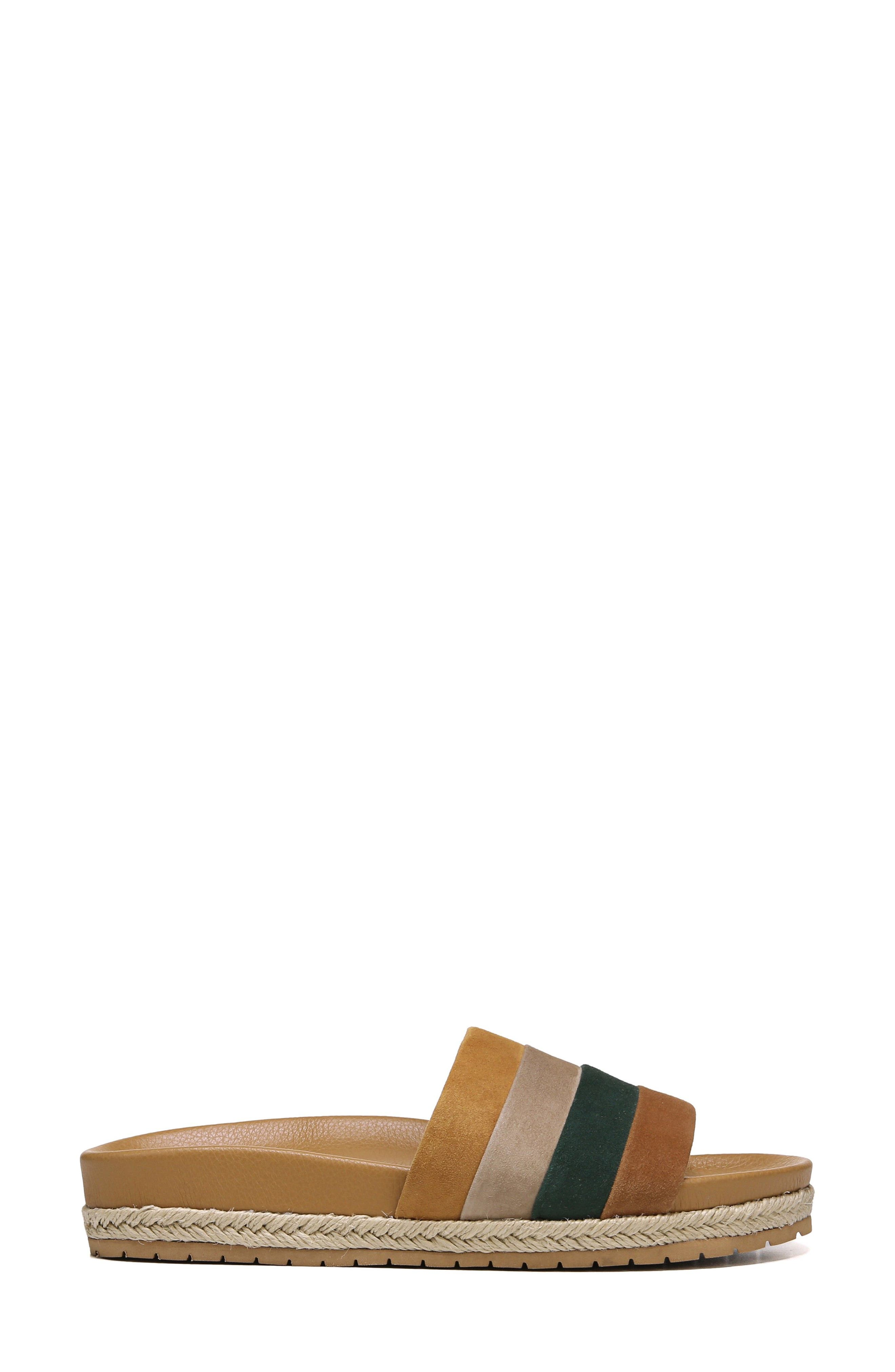 Alisa Striped Slide Sandal,                             Alternate thumbnail 3, color,                             Cedar Multi