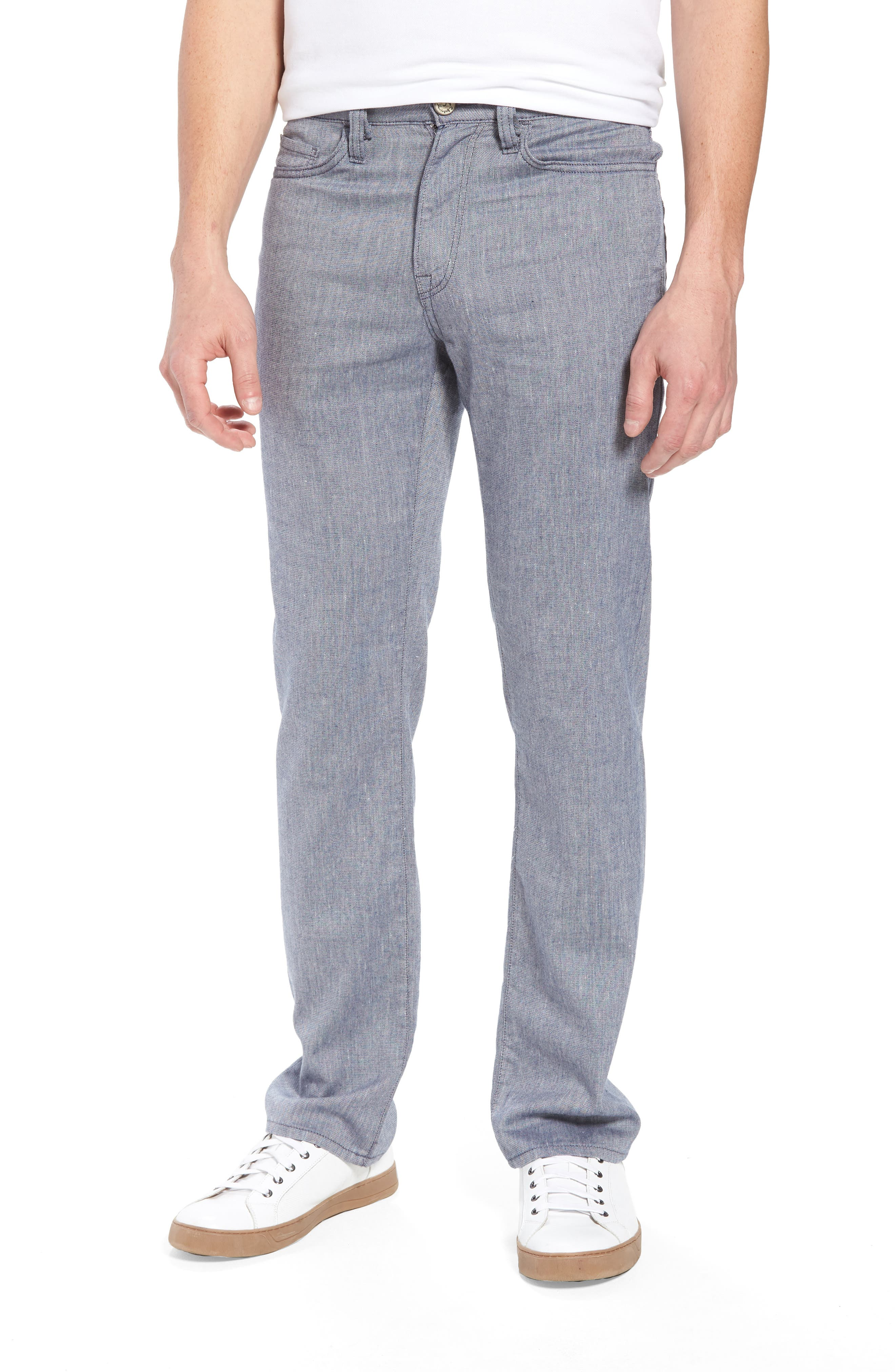 Charisma Relaxed Fit Pants,                         Main,                         color, Indigo Textured