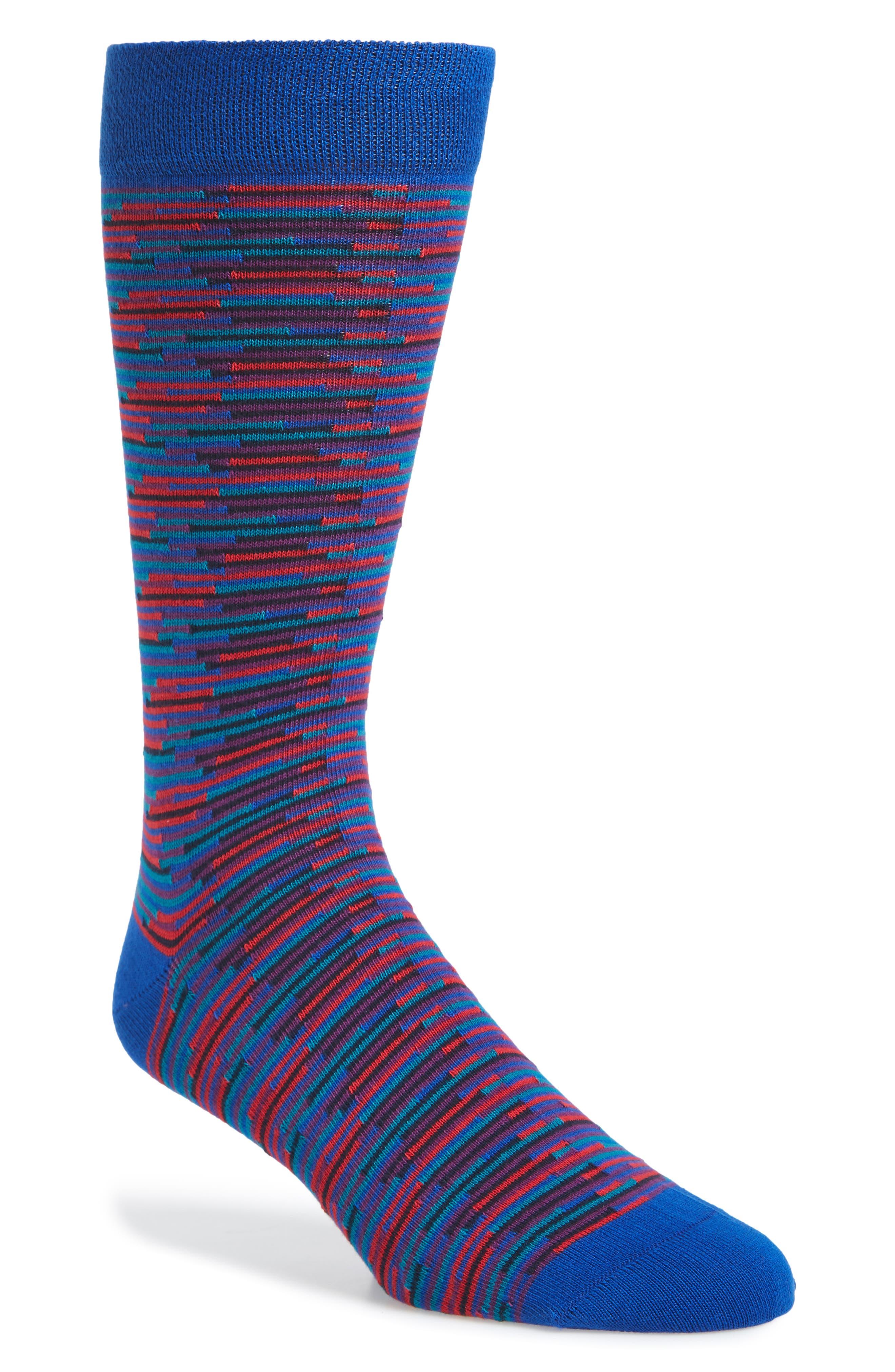 Newtape Stripe Socks,                             Main thumbnail 1, color,                             Blue