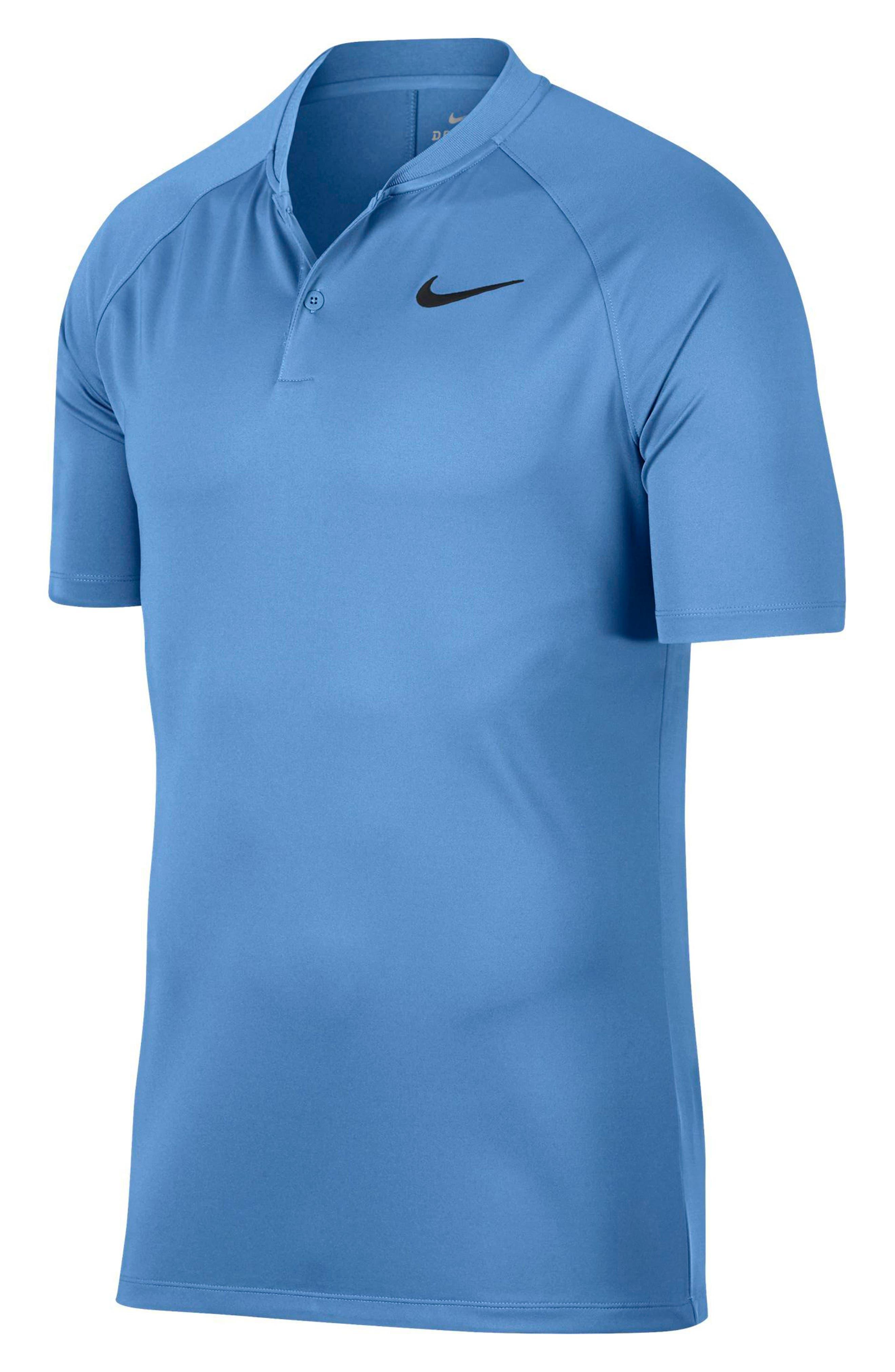 Dry Momentum Golf Polo,                         Main,                         color, University Blue/ White