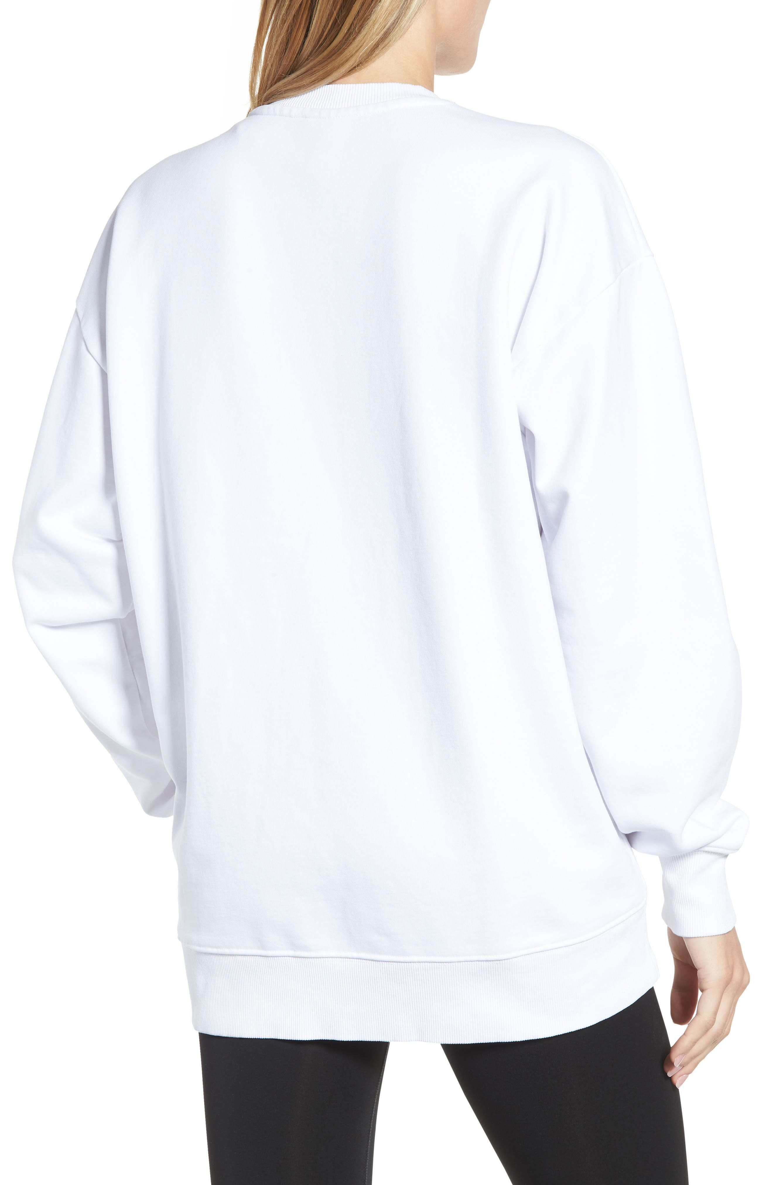 Flag Badge Sweatshirt,                             Alternate thumbnail 2, color,                             White