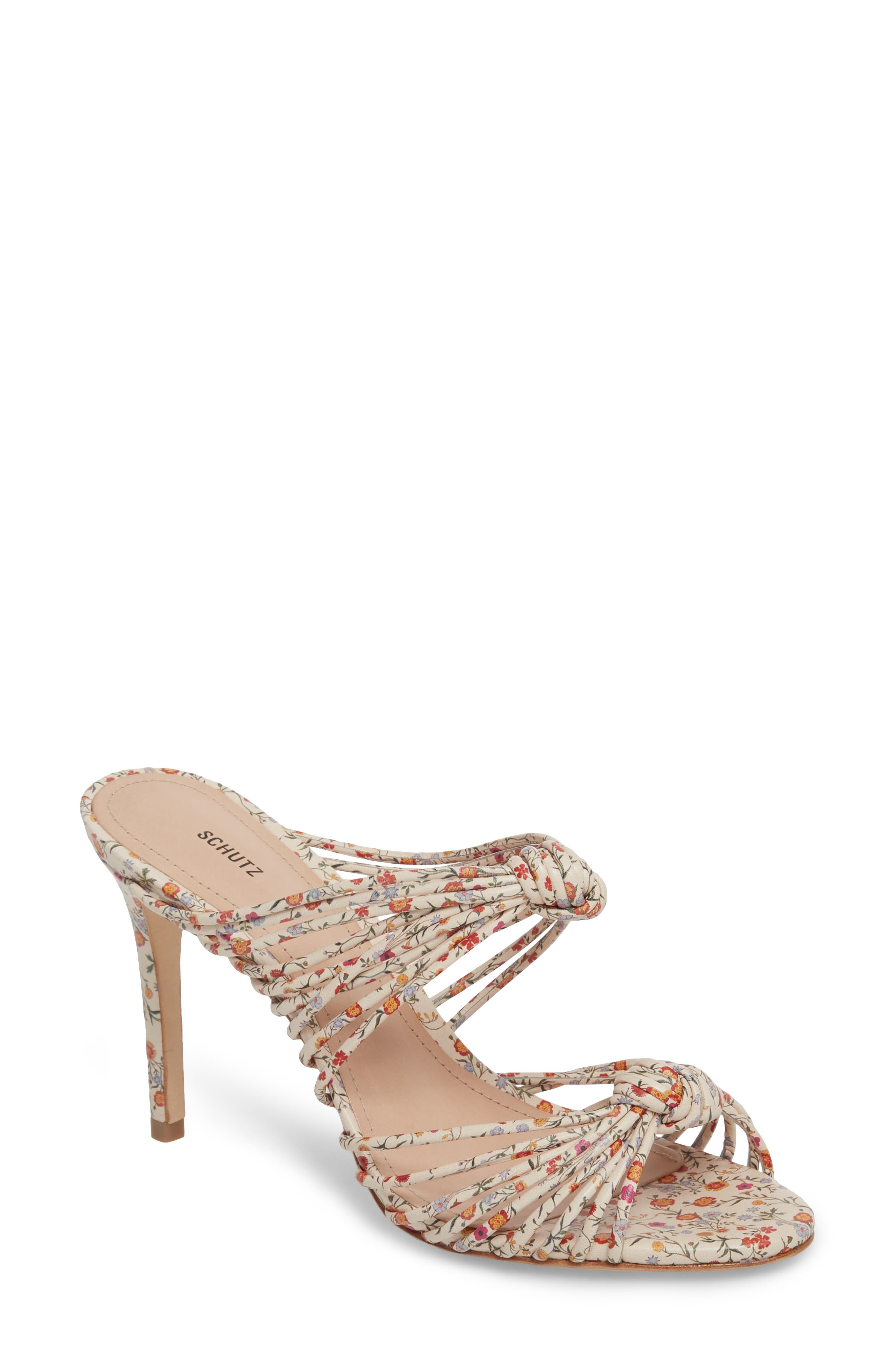 Chandra Sandal,                         Main,                         color, Natural Floral Leather
