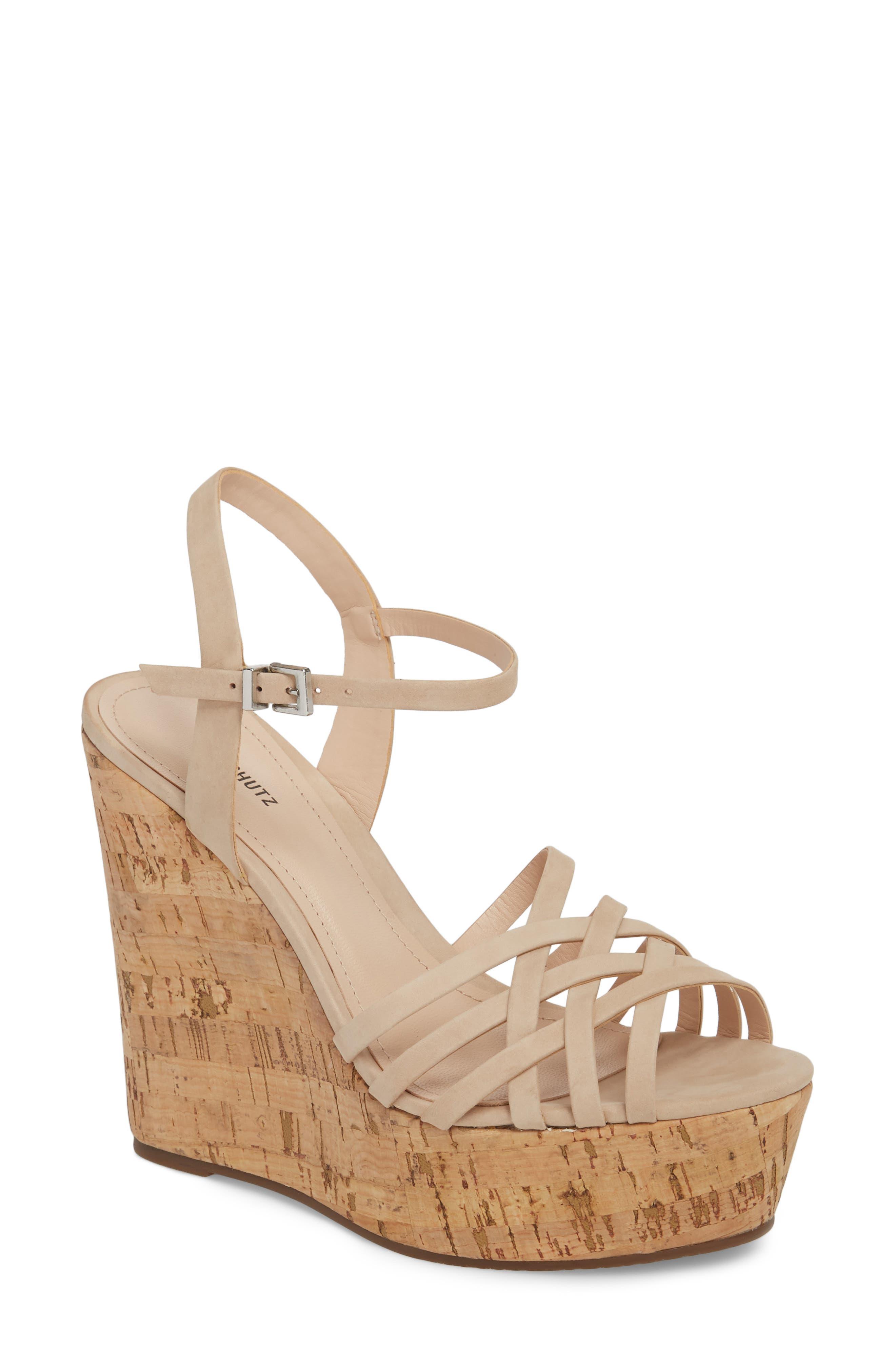 Schutz Louna Platform Wedge Sandal (Women)