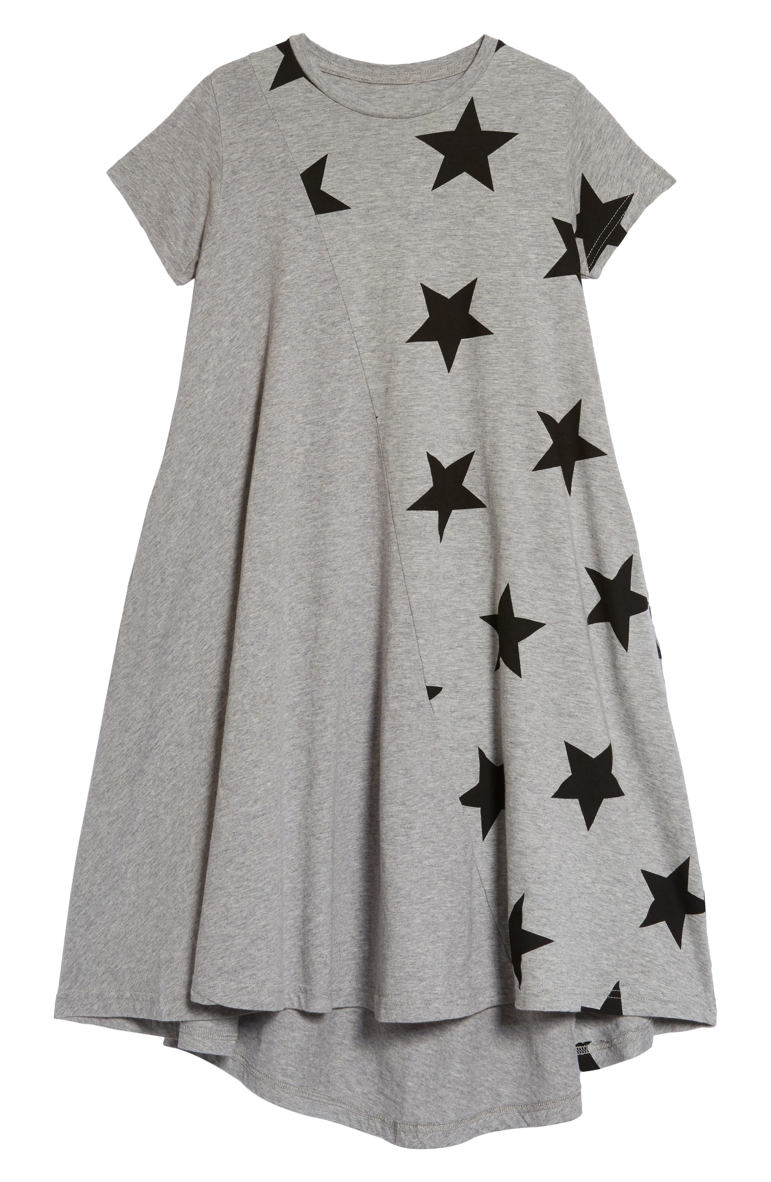 360 Star Print Dress,                             Main thumbnail 1, color,                             Heather Grey