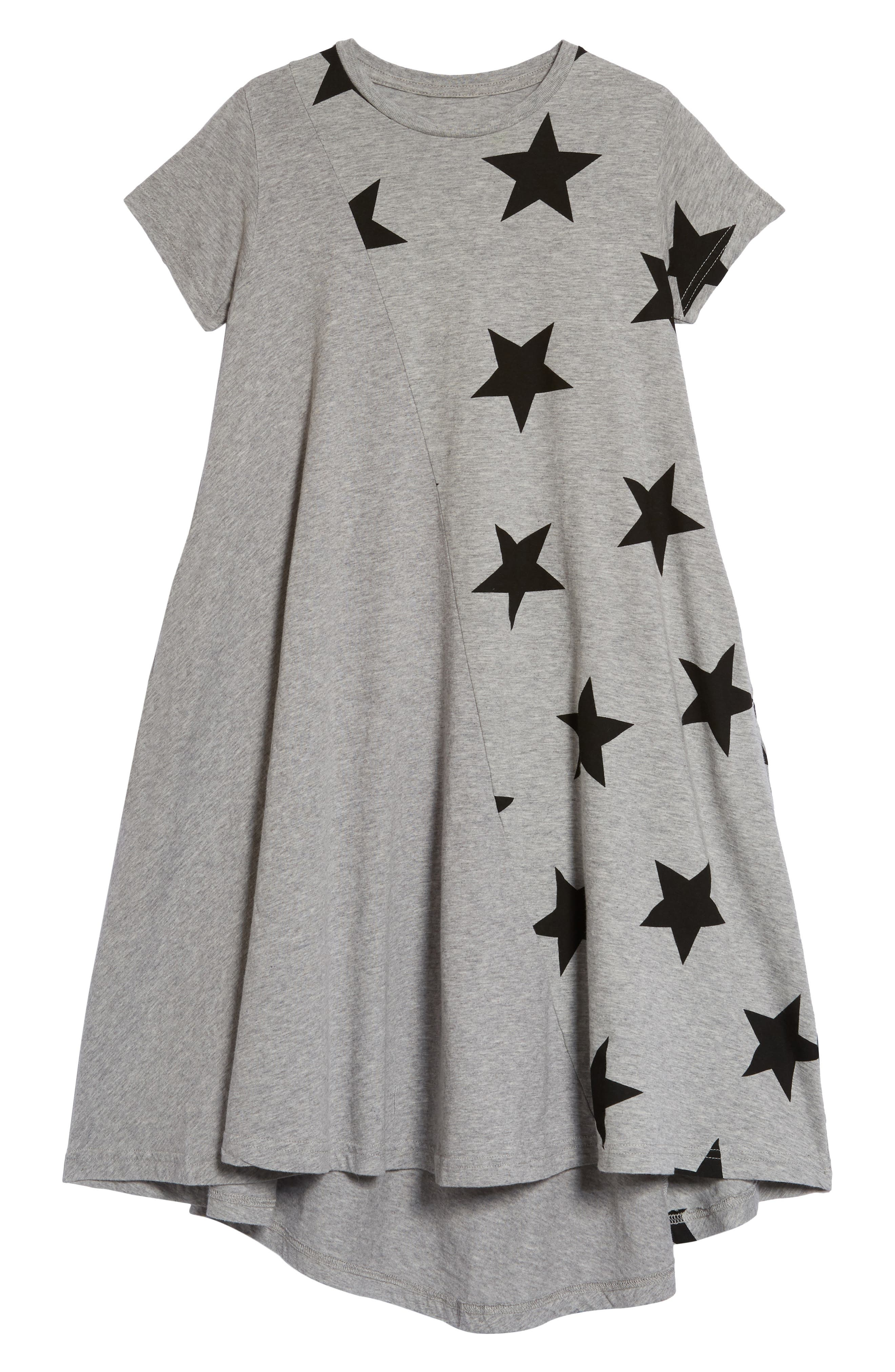 360 Star Print Dress,                         Main,                         color, Heather Grey