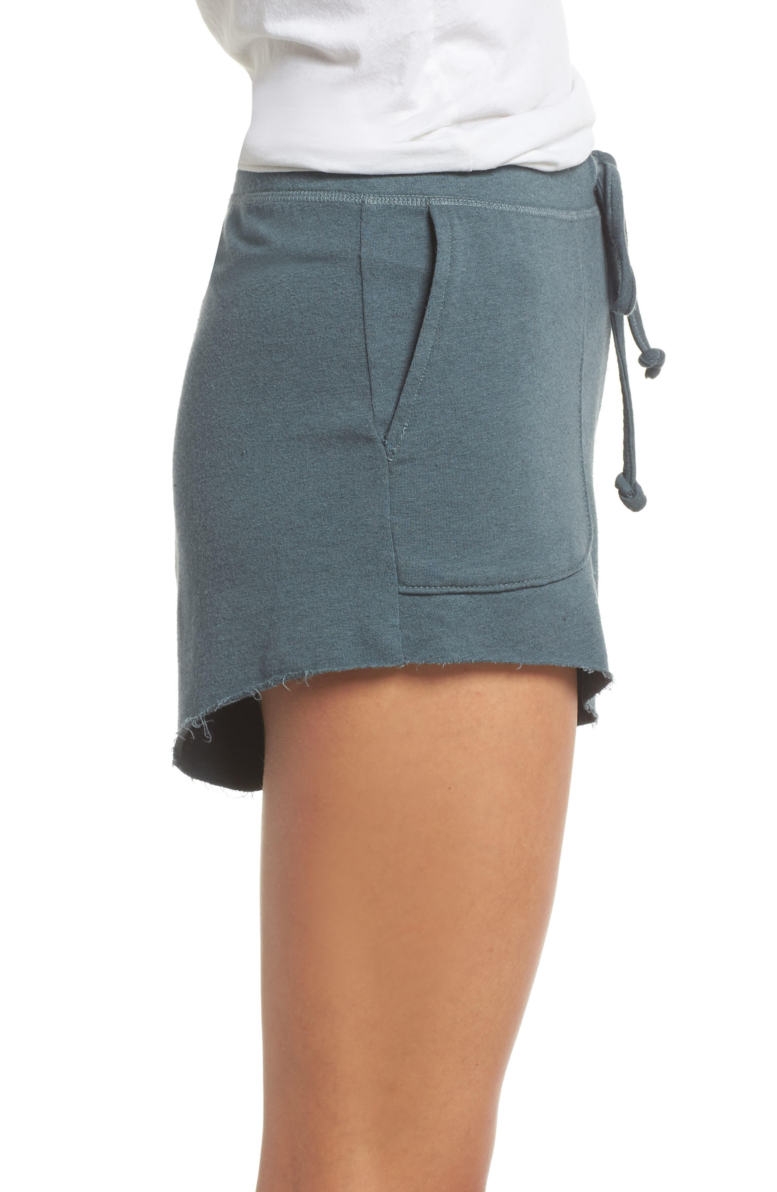 Raw Cut Lounge Shorts,                             Alternate thumbnail 3, color,                             Gunmetal