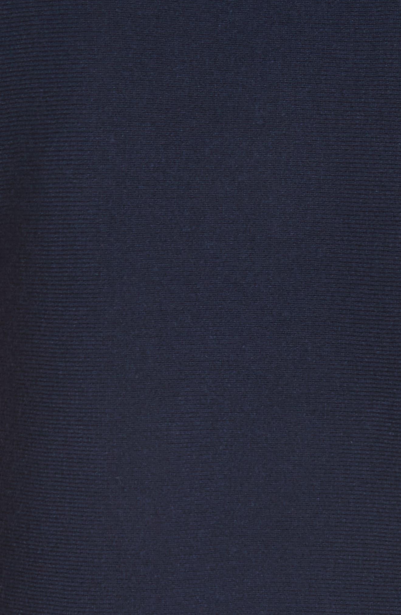 Scallop Hem Shift Dress,                             Alternate thumbnail 5, color,                             Navy