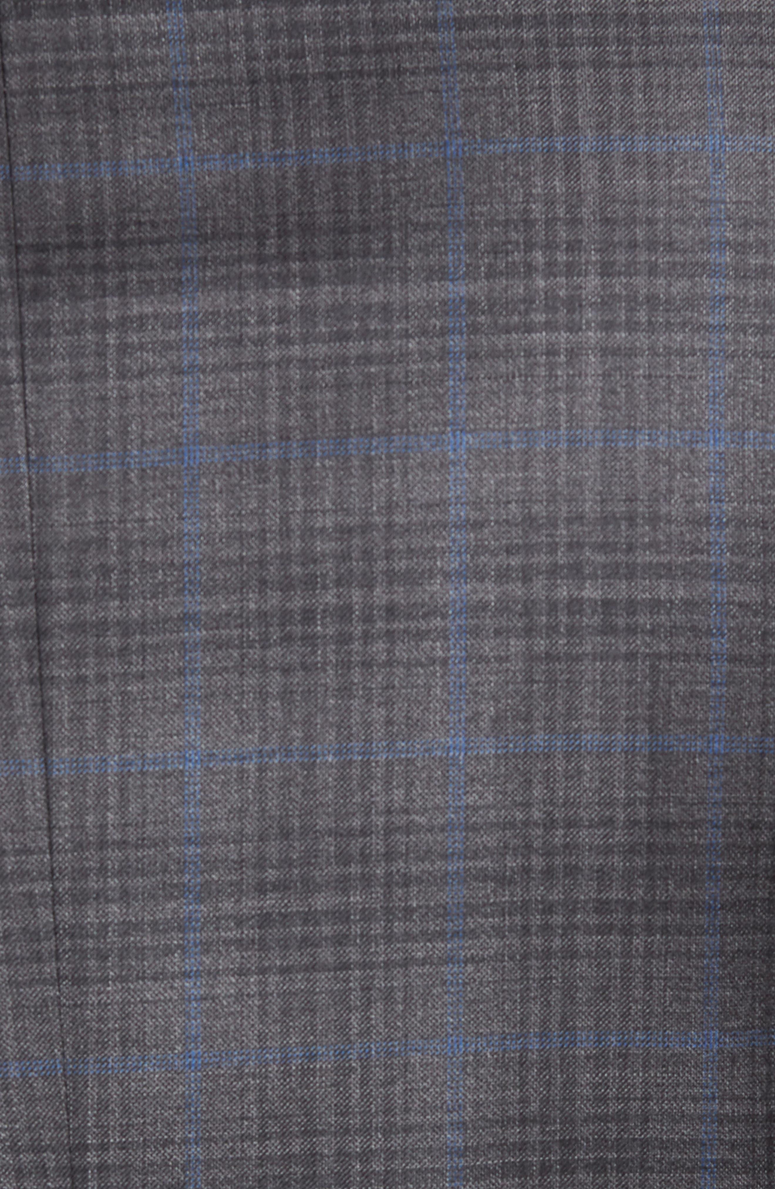 Classic Fit Plaid Wool Sport Coat,                             Alternate thumbnail 5, color,                             Grey/Blue