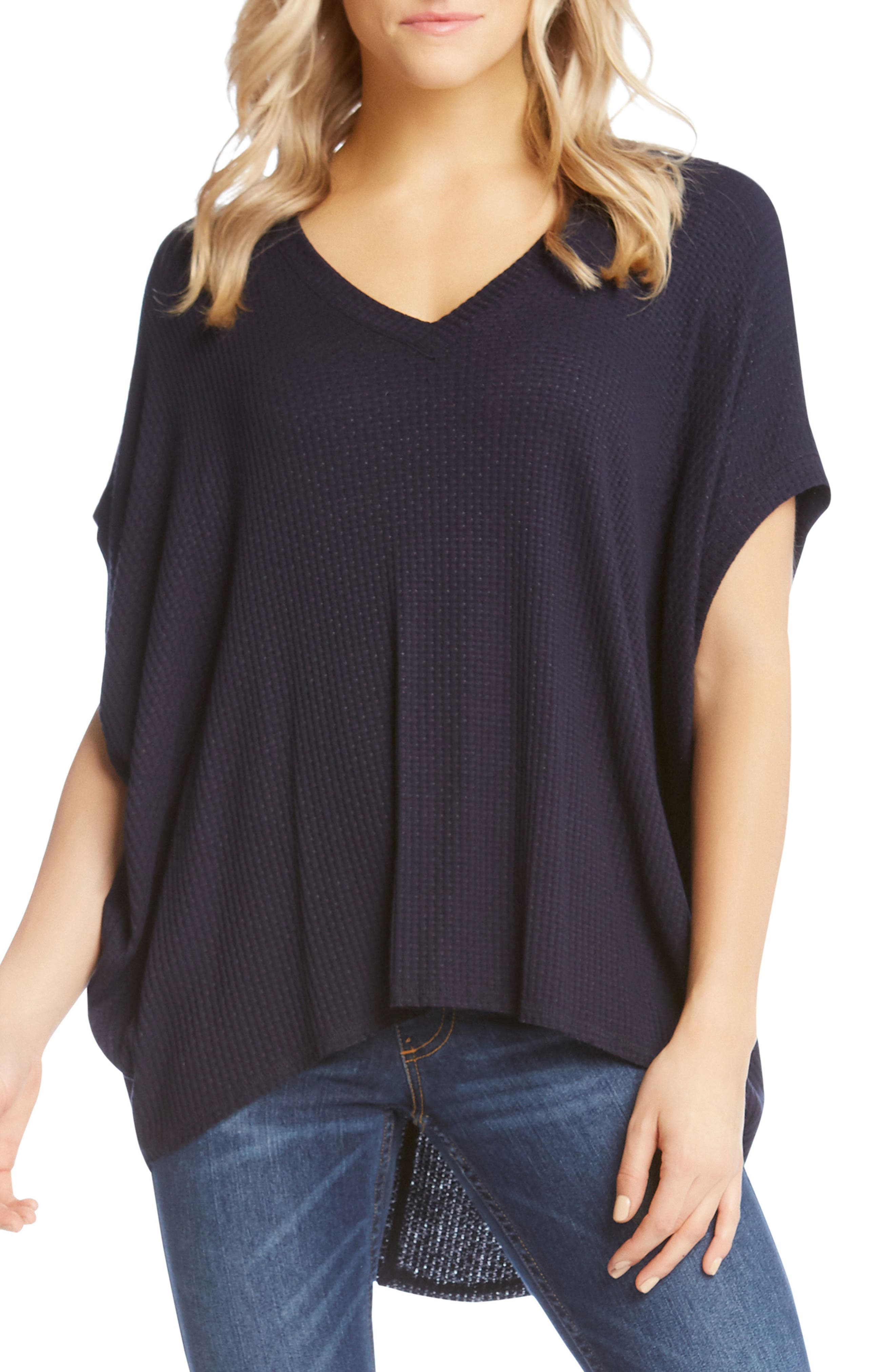 Textured High/Low Top,                         Main,                         color, Navy
