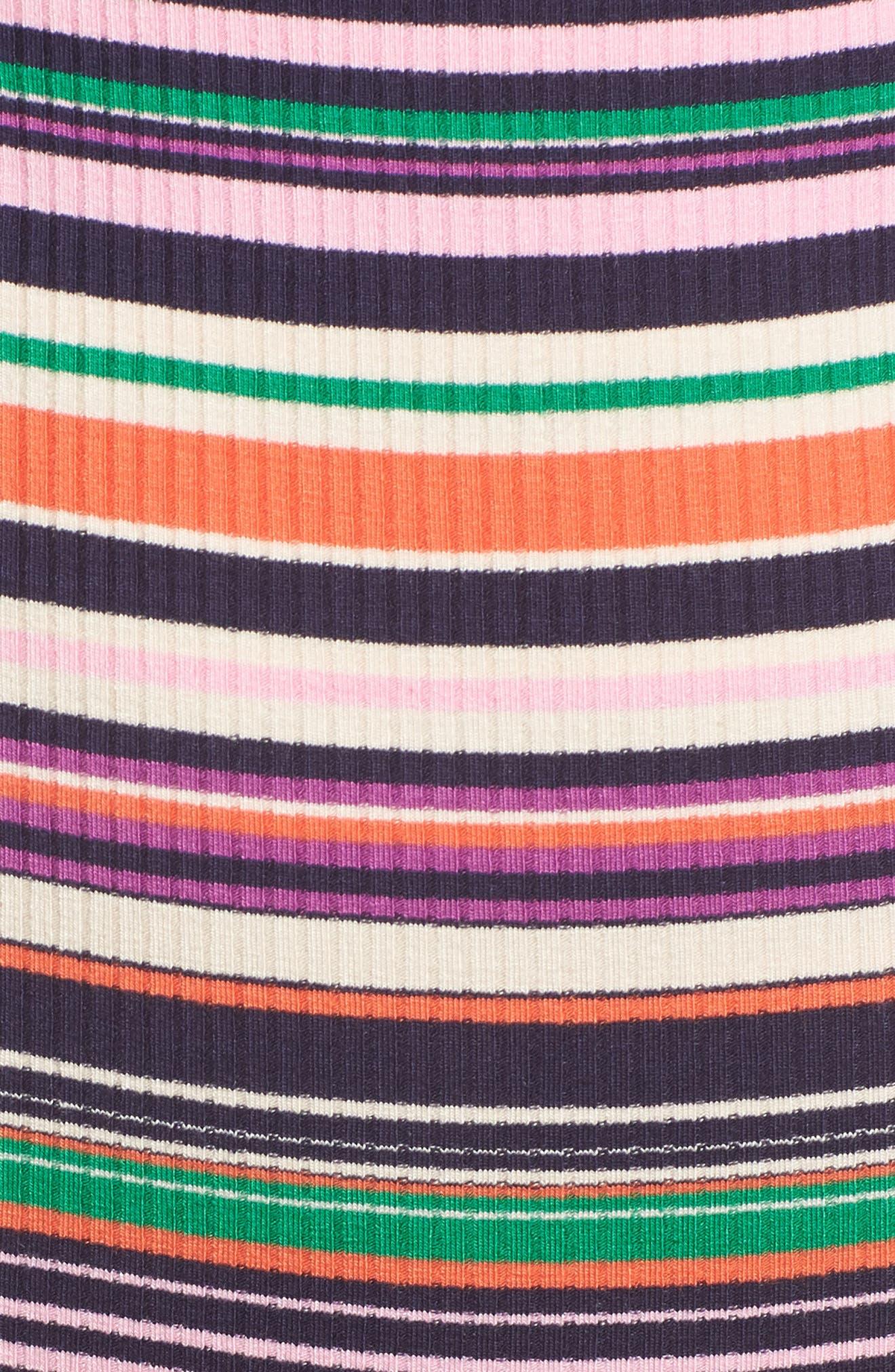 Brooks Cutout Thong Bodysuit,                             Alternate thumbnail 5, color,                             Multi Stripe