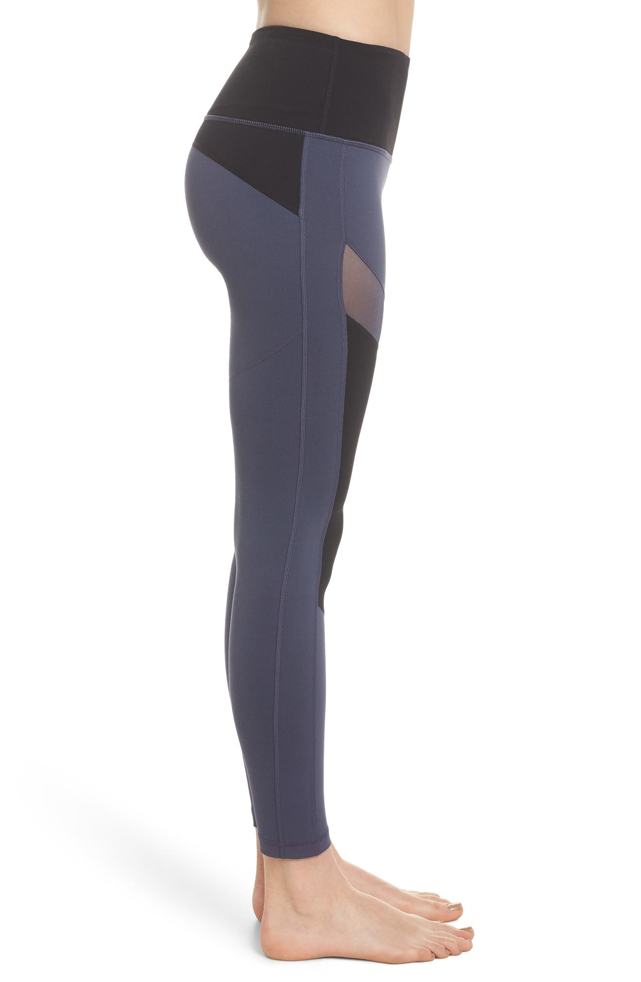 Autumn Block Ankle Leggings,                             Alternate thumbnail 3, color,                             Grey Slate