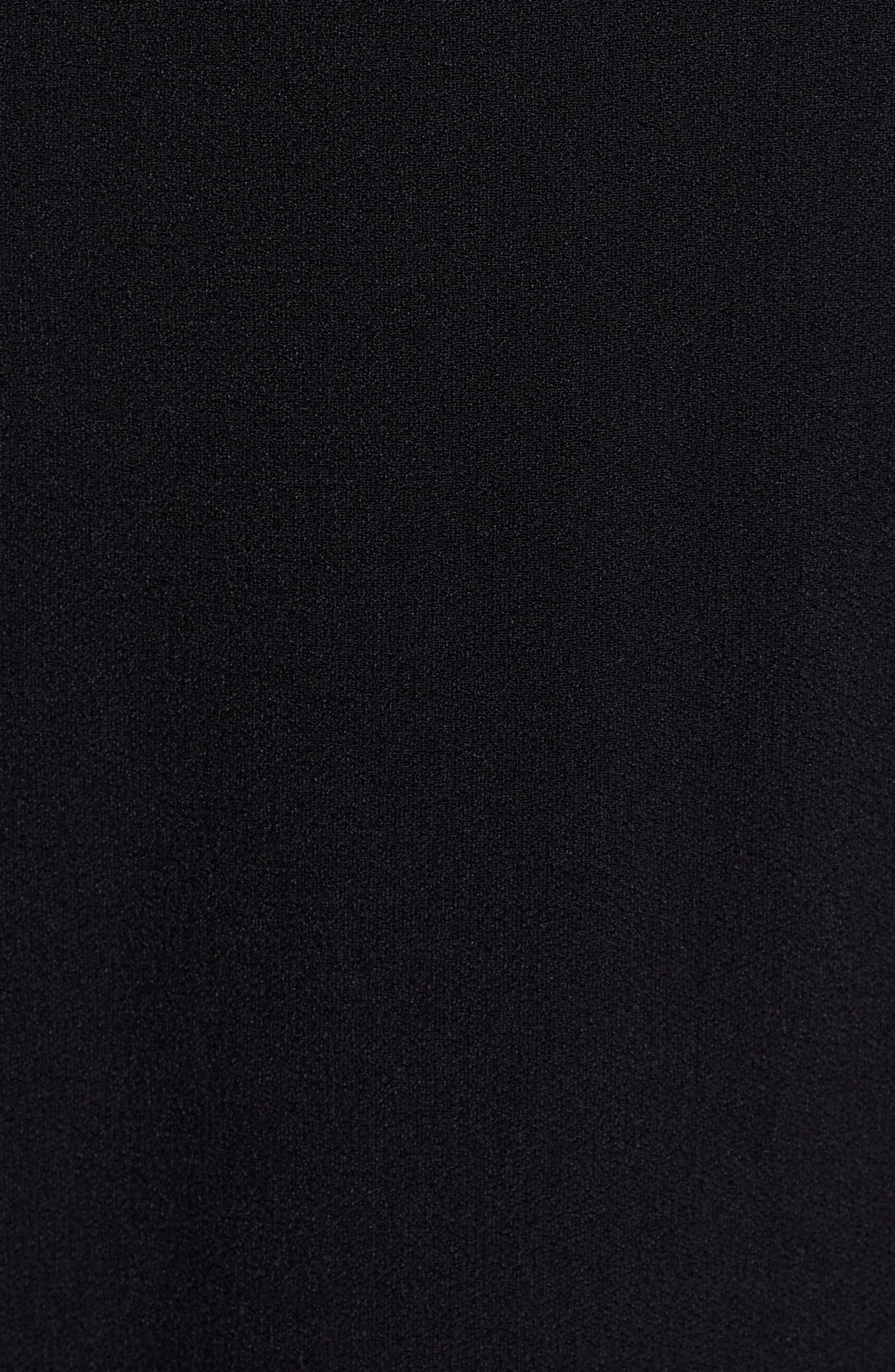 Demana A-Line Dress,                             Alternate thumbnail 5, color,                             Black