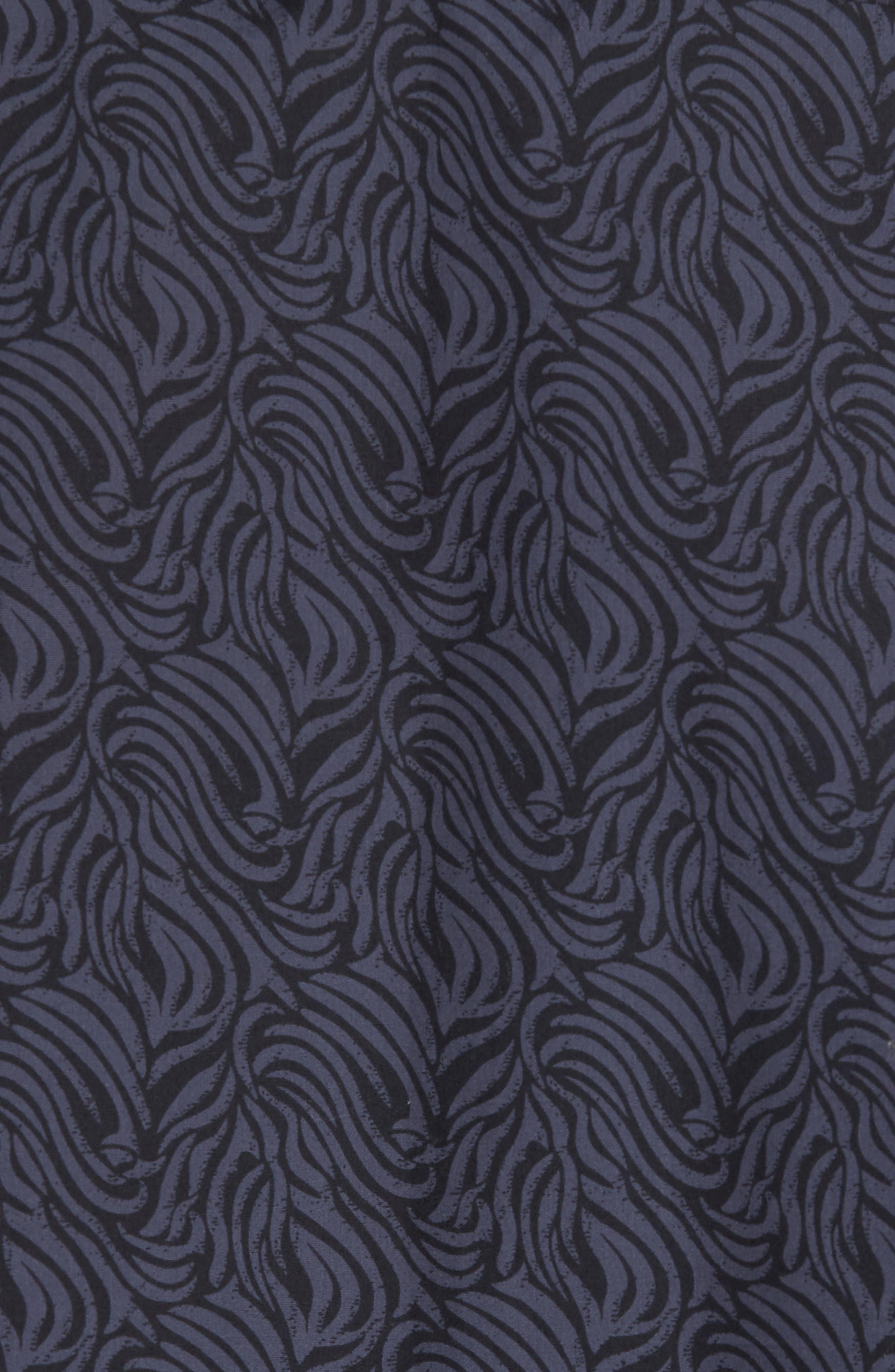 Trim Fit Print Welt Pocket Sport Shirt,                             Alternate thumbnail 4, color,                             Navy Blue Black Brush Stroke