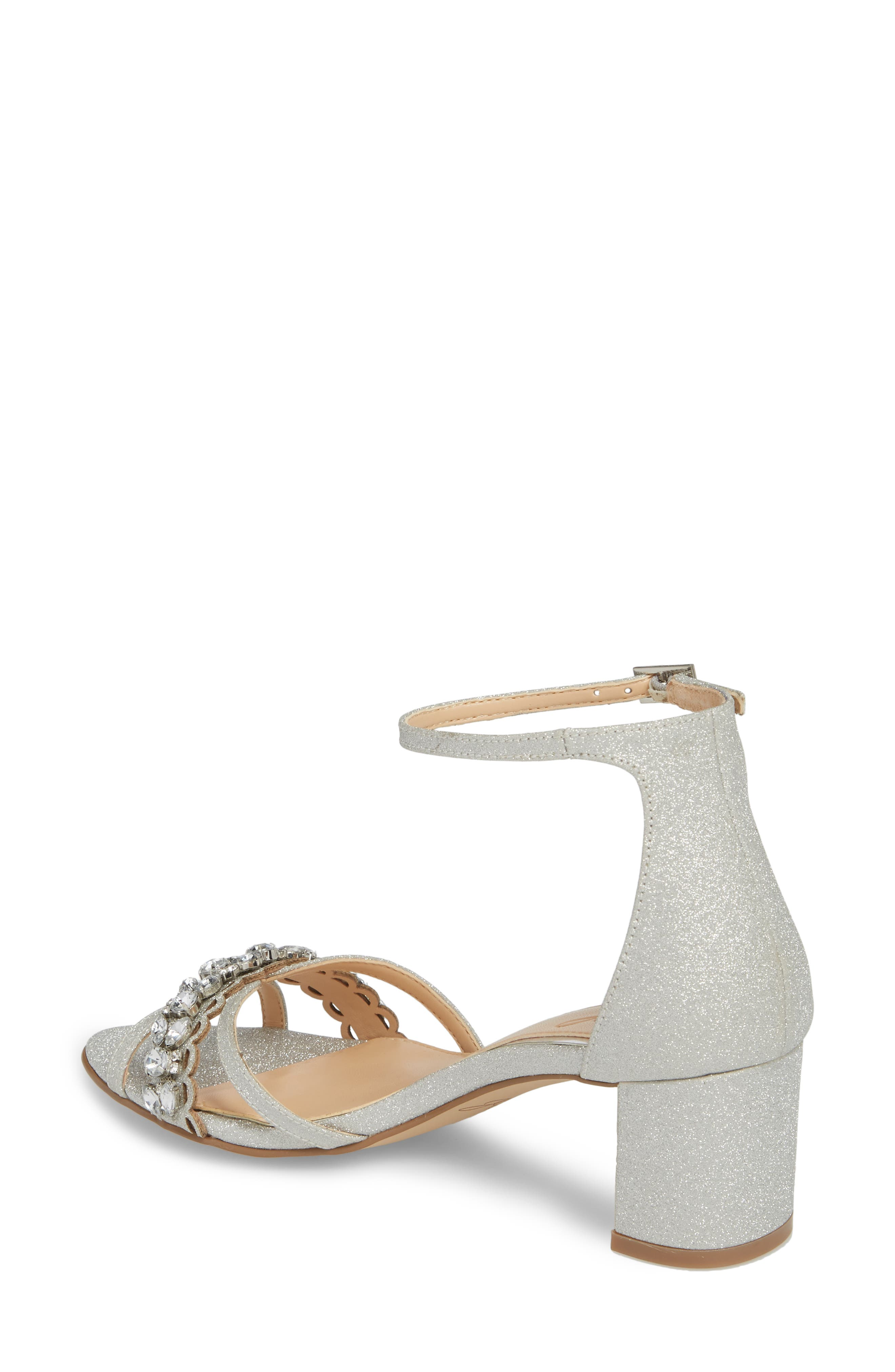 Giona Sandal,                             Alternate thumbnail 2, color,                             Silver Glitter Fabric