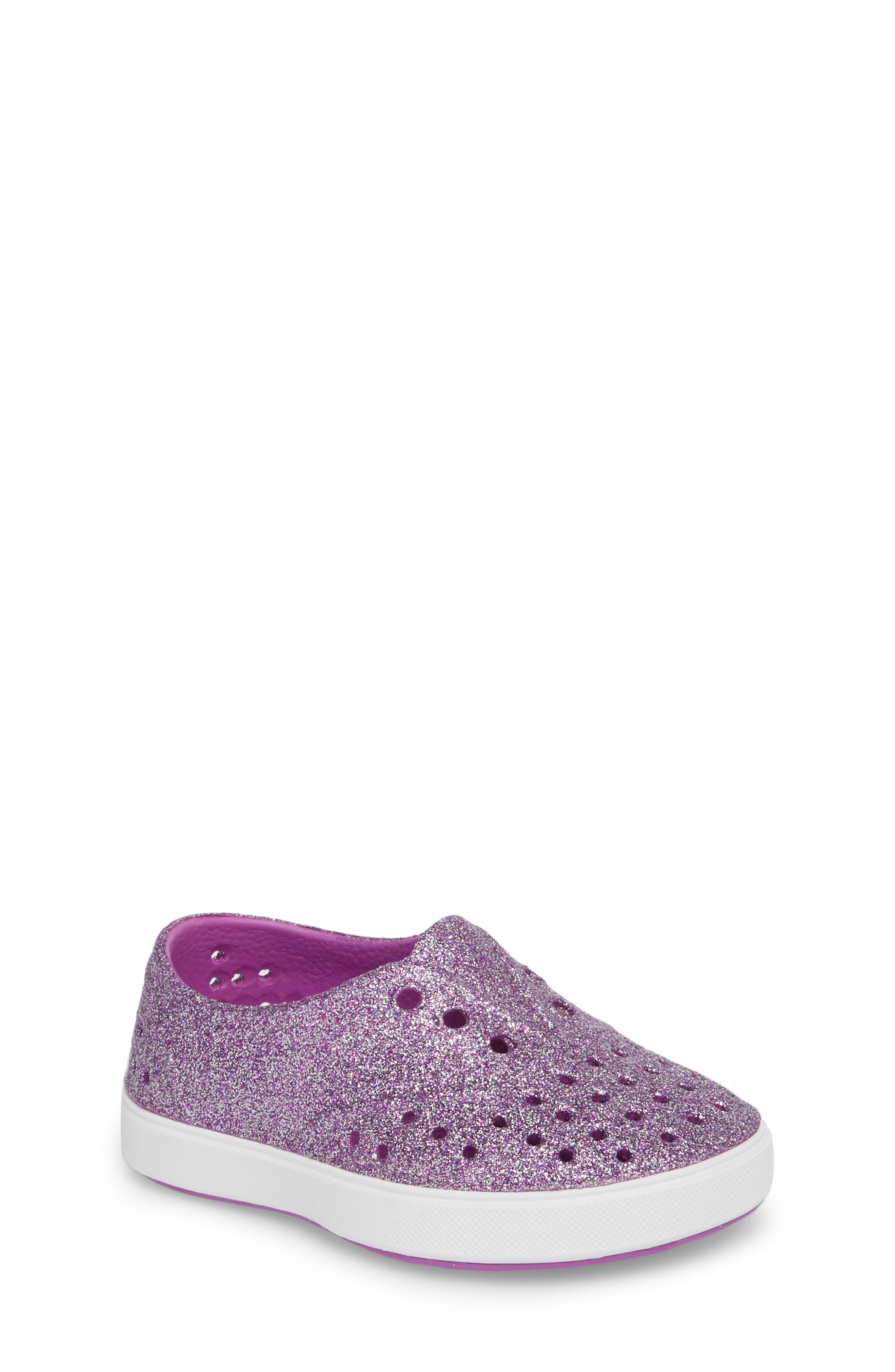 Miller Sparkly Perforated Slip-On,                         Main,                         color, Peace Bling/ Shell White