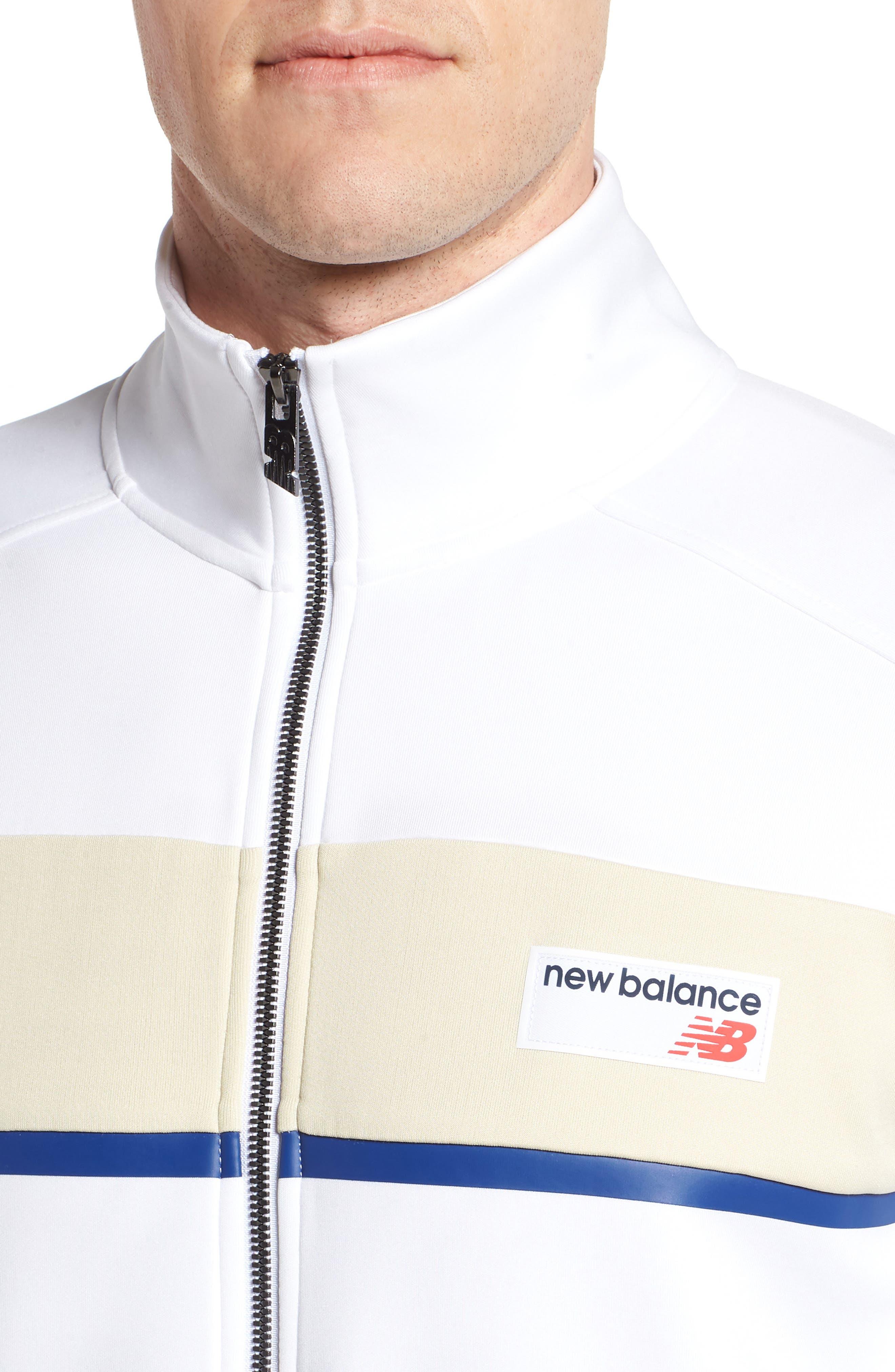 Athletics Track Jacket,                             Alternate thumbnail 4, color,                             White