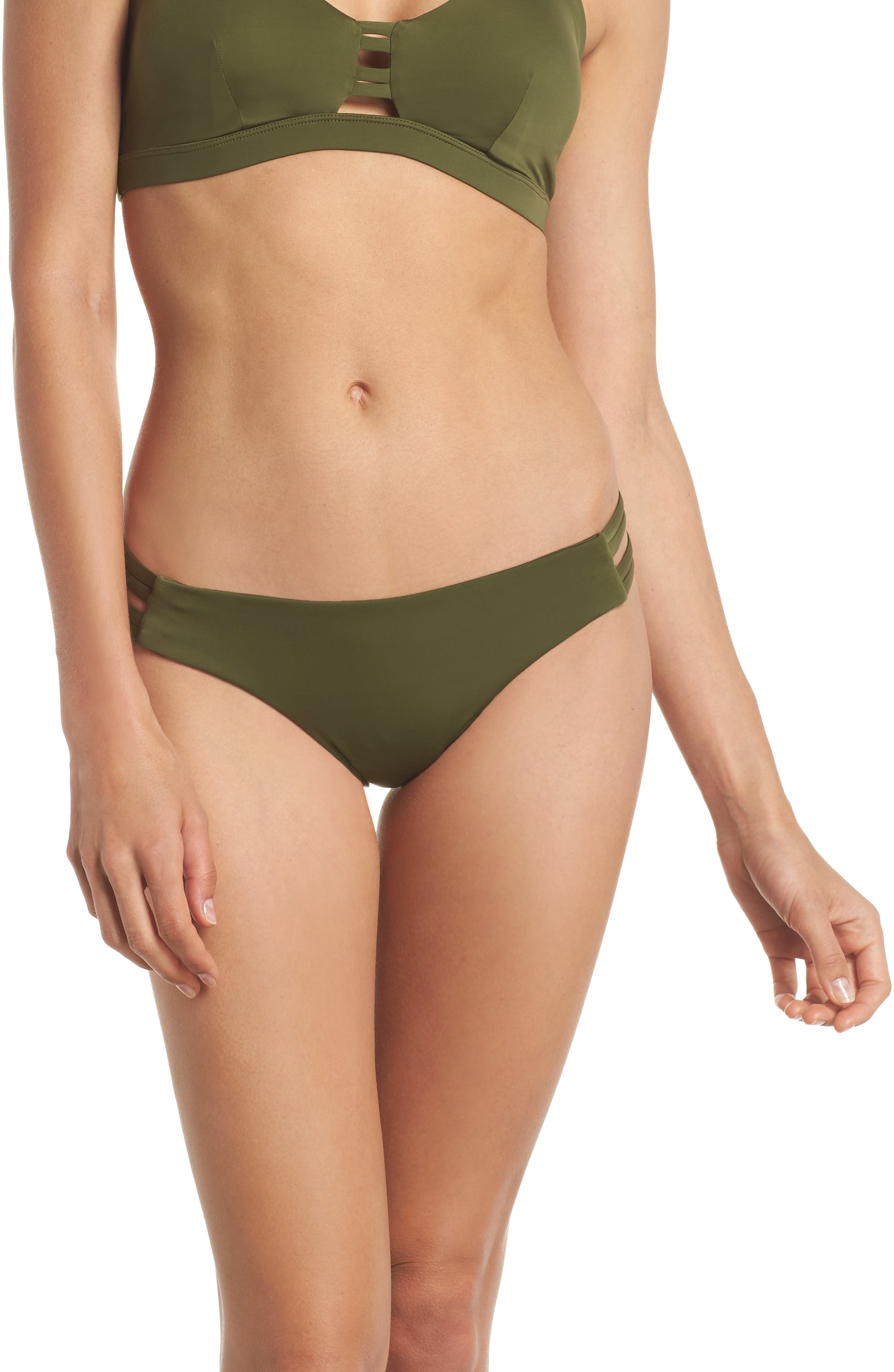 Quick Dry Max Surf Bikini Bottoms,                             Main thumbnail 1, color,                             Olive Canvas