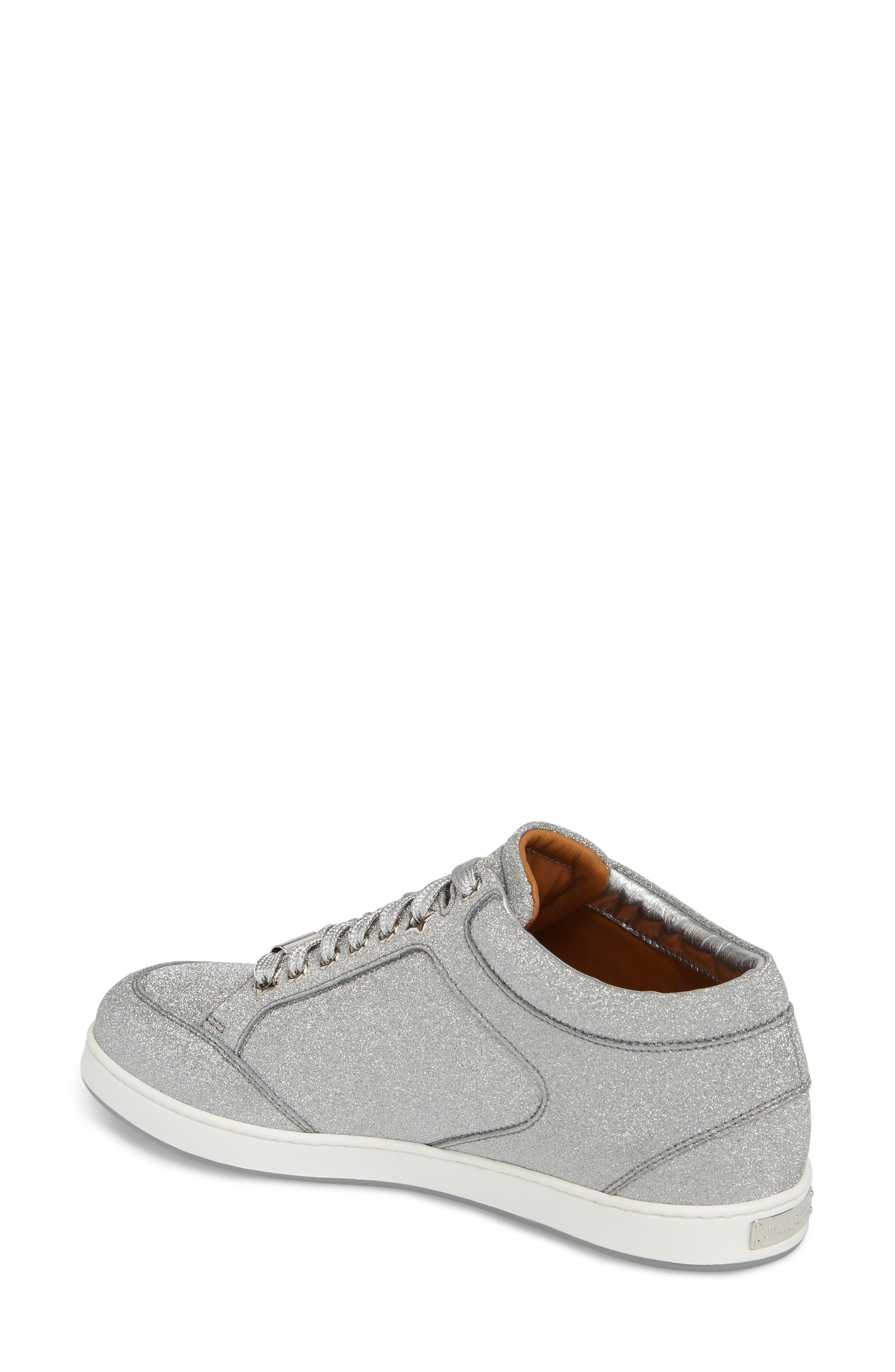Miami Metallic Sneaker,                             Alternate thumbnail 2, color,                             Silver