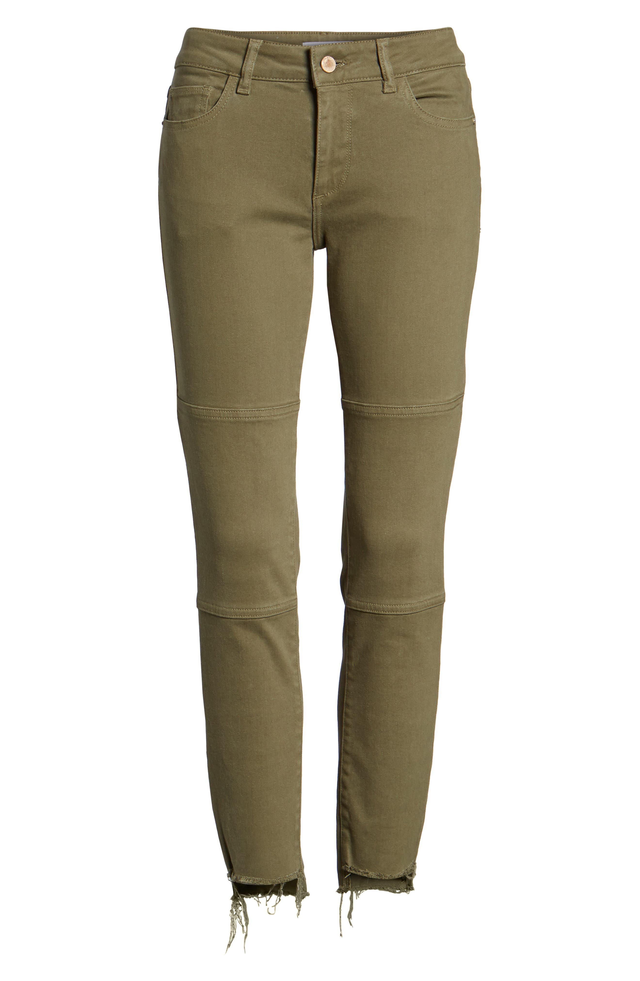 Margaux Instasculpt Ankle Skinny Jeans,                             Alternate thumbnail 7, color,                             Cargo Green