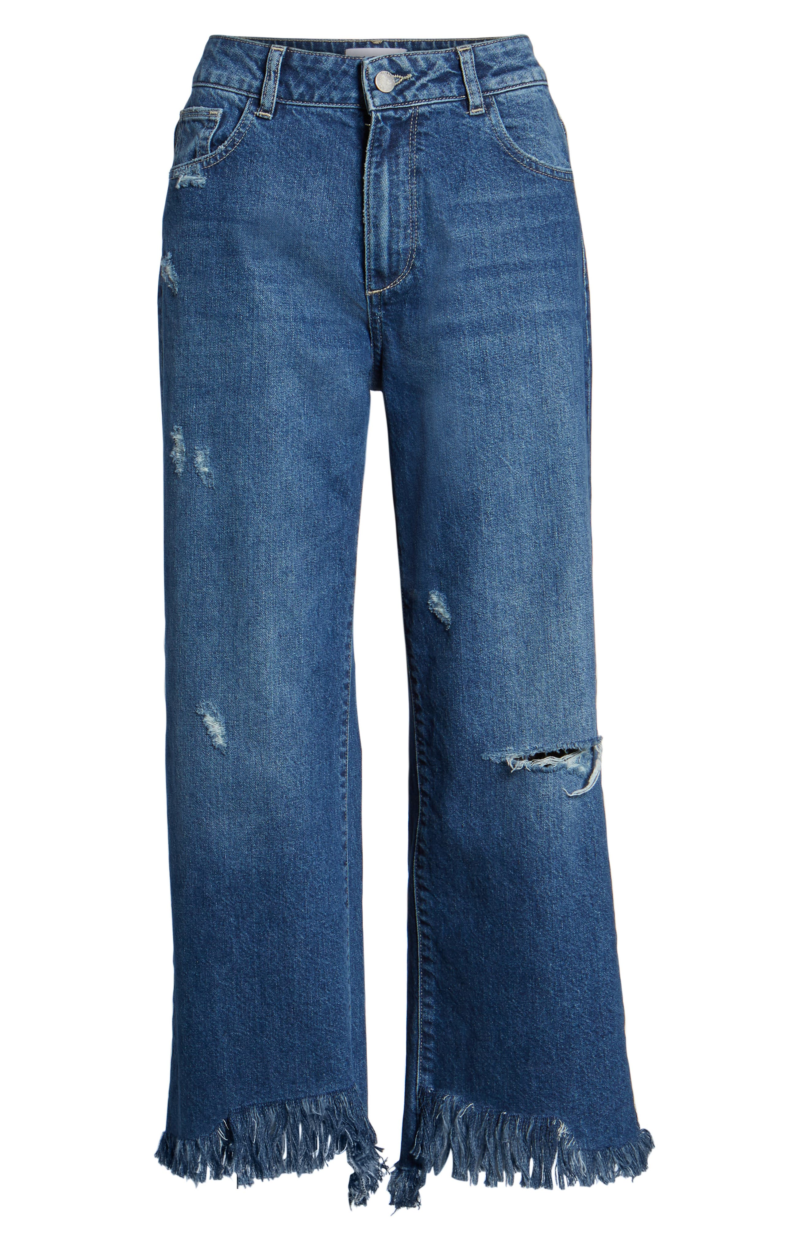 Hepburn High Waist Wide Leg Jeans,                             Alternate thumbnail 7, color,                             Goldfield