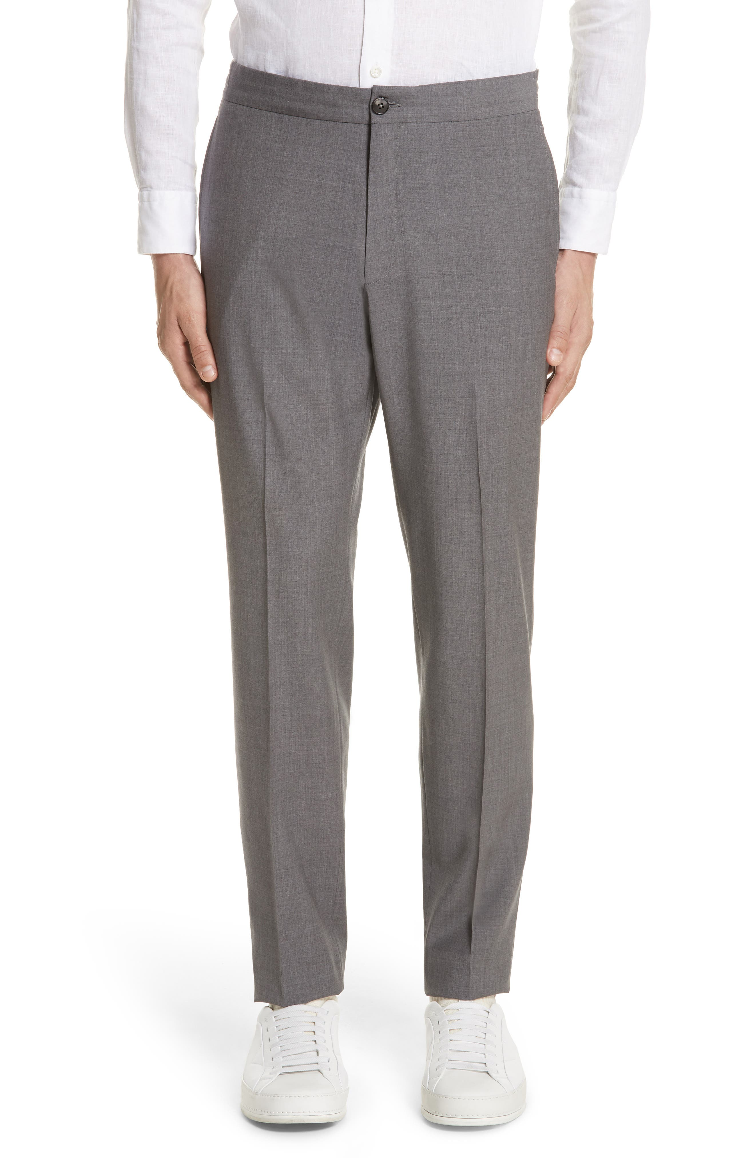 TECHMERINO<sup>™</sup> Wash & Go Trim Fit Solid Wool Suit,                             Alternate thumbnail 5, color,                             Solid Grey