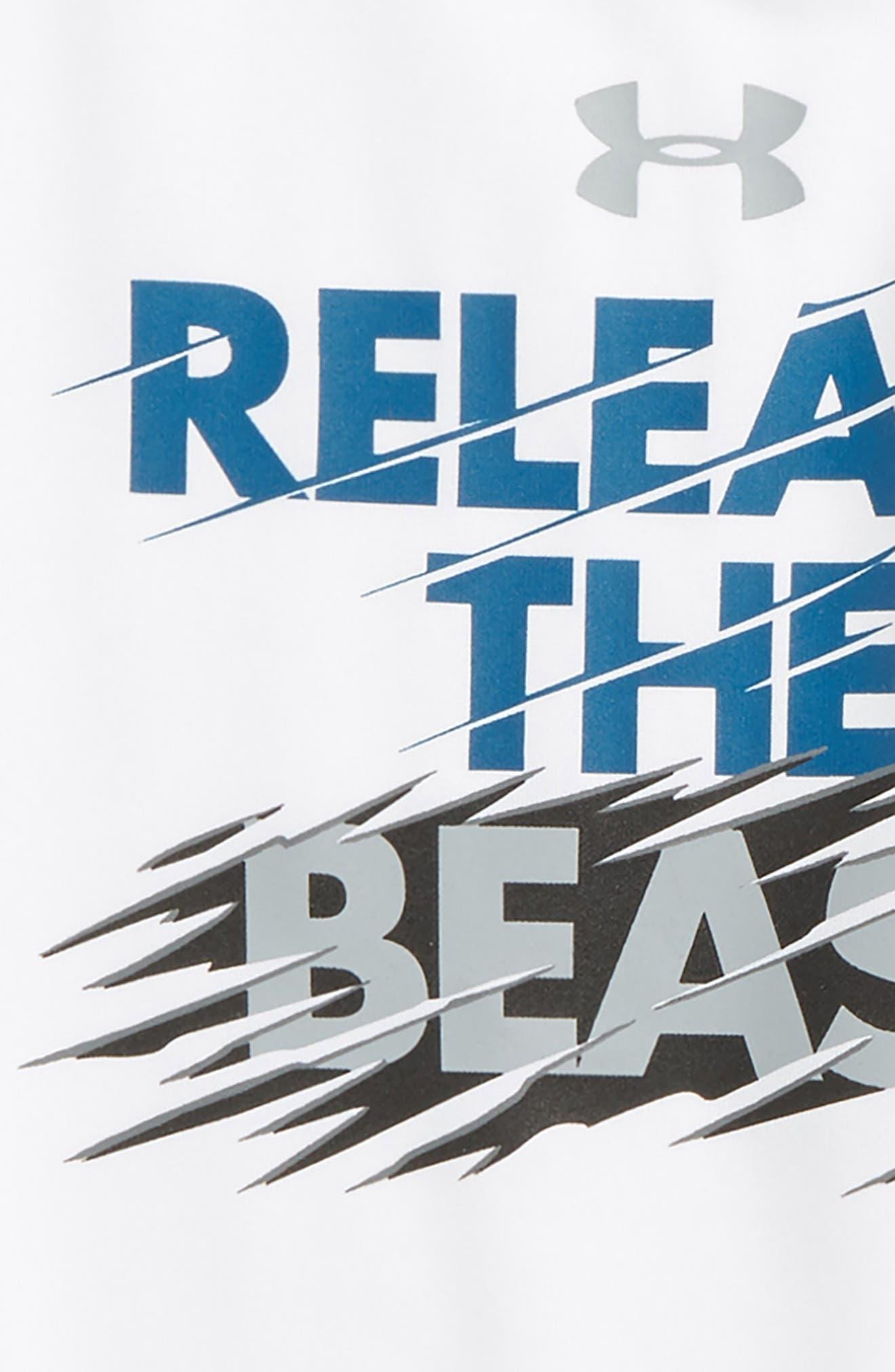 Release the Beast HeatGear<sup>®</sup> T-Shirt,                             Alternate thumbnail 2, color,                             White