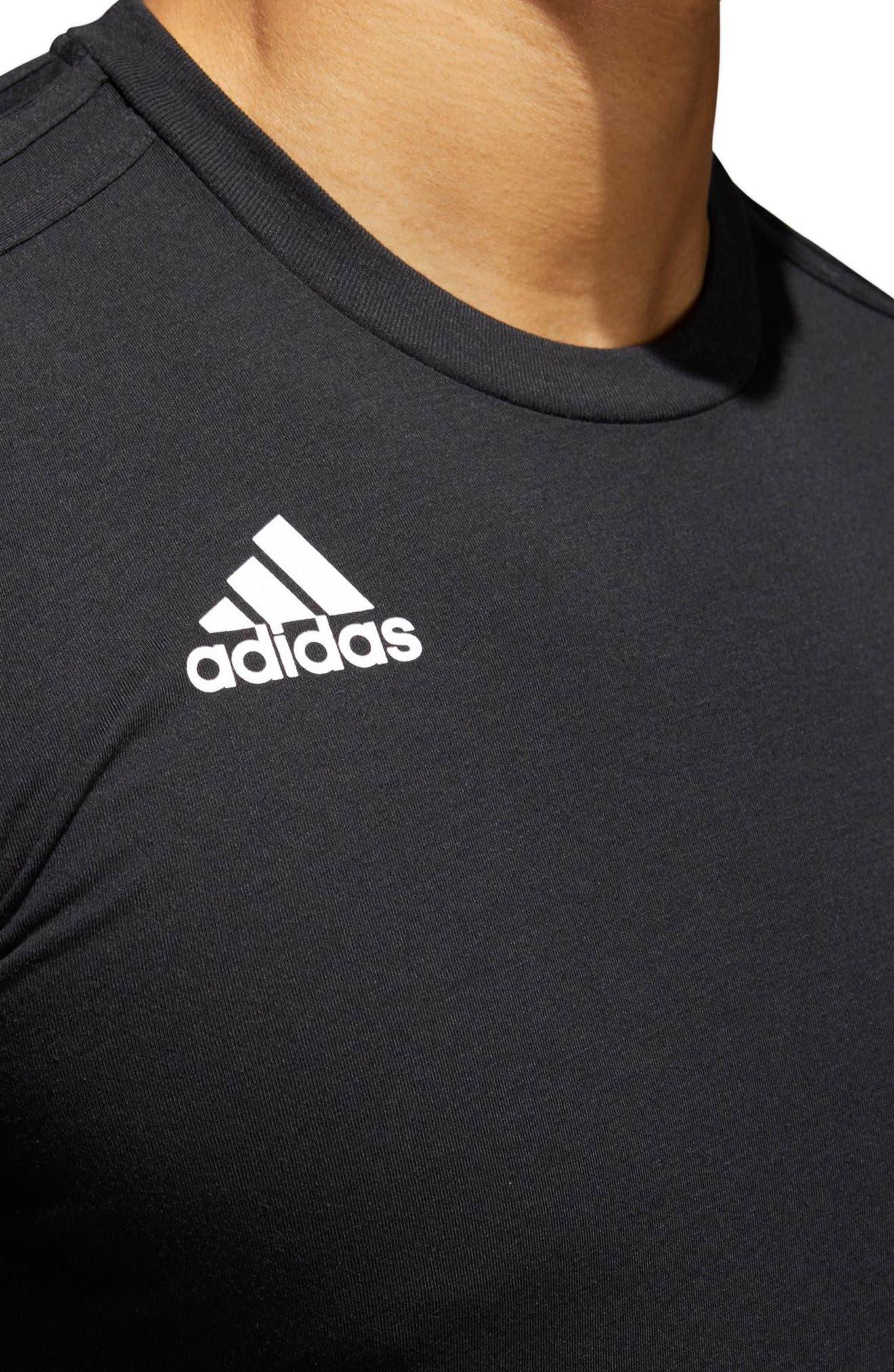 Soccer Slim Fit T-Shirt,                             Alternate thumbnail 3, color,                             Black / White