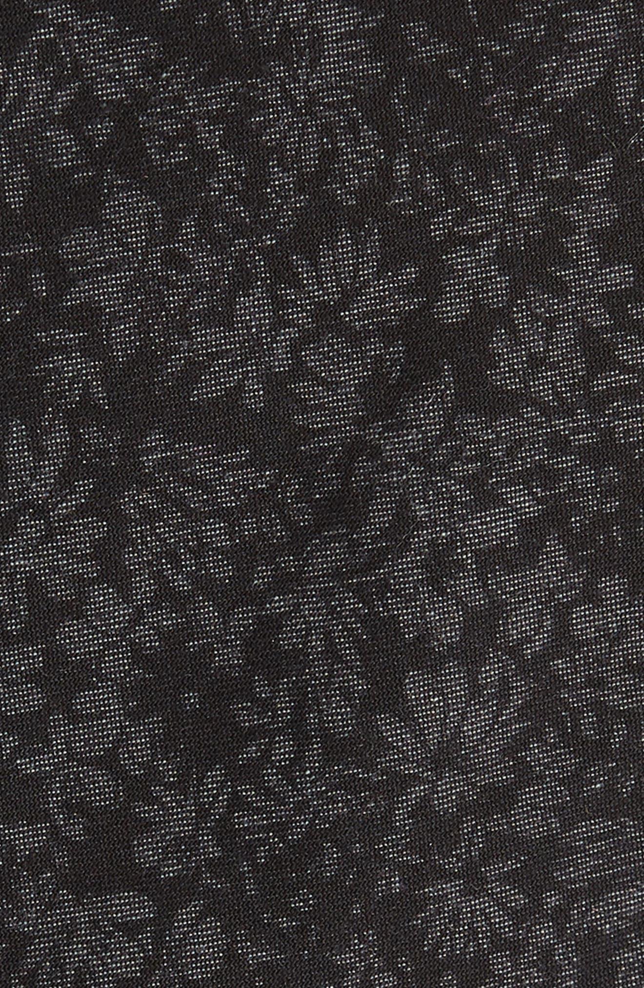 Floral Cotton Tie,                             Alternate thumbnail 2, color,                             Black