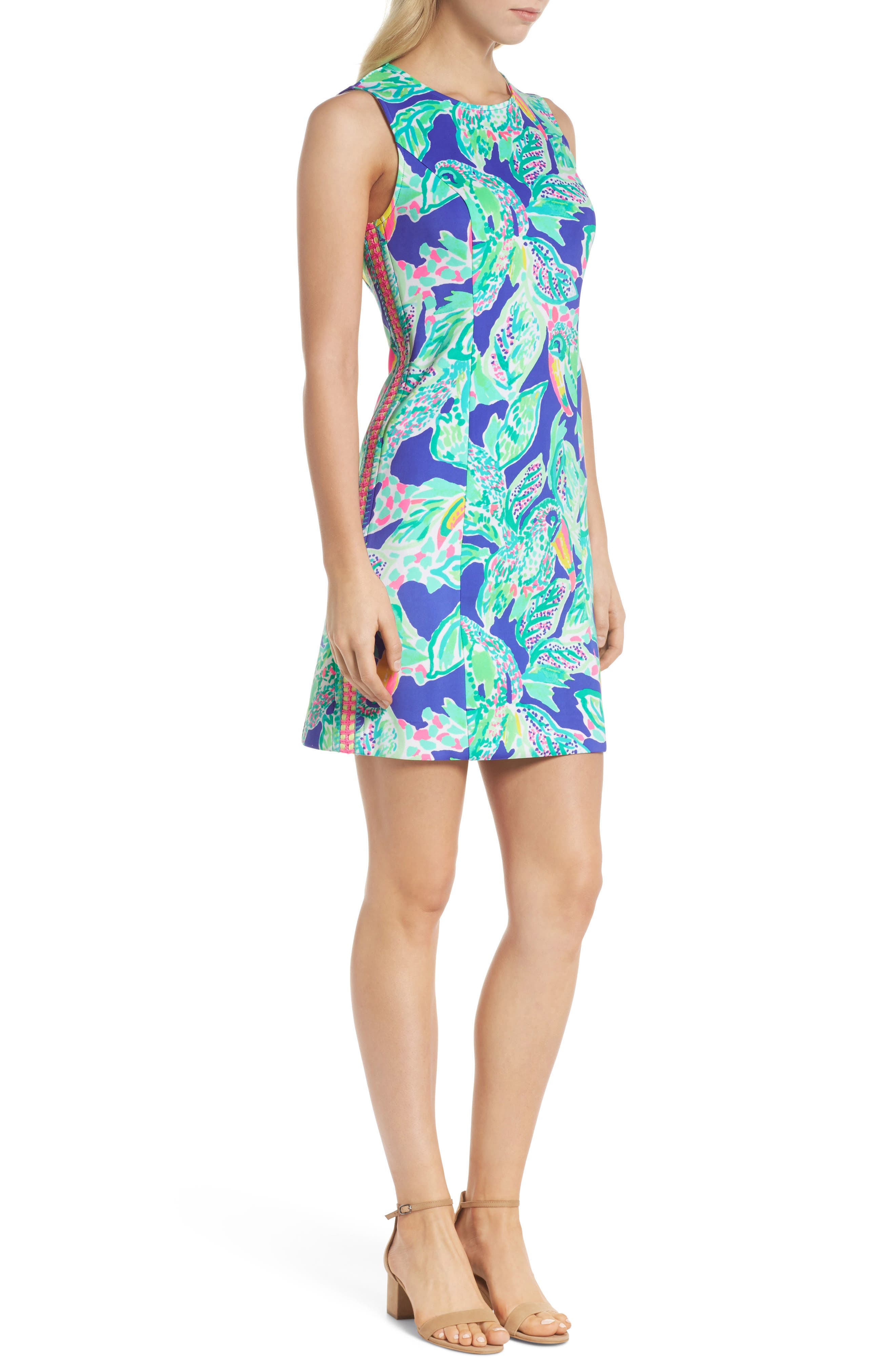 Mila Sheath Dress,                             Alternate thumbnail 3, color,                             Beckon Blue Wake Up Call