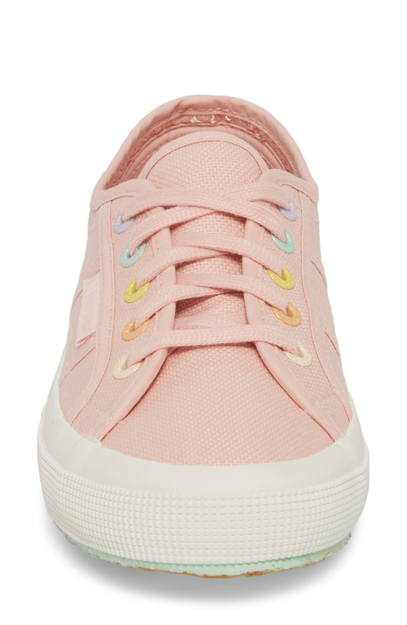 2750 Rainbow Sneaker,                             Alternate thumbnail 4, color,                             Light Pink