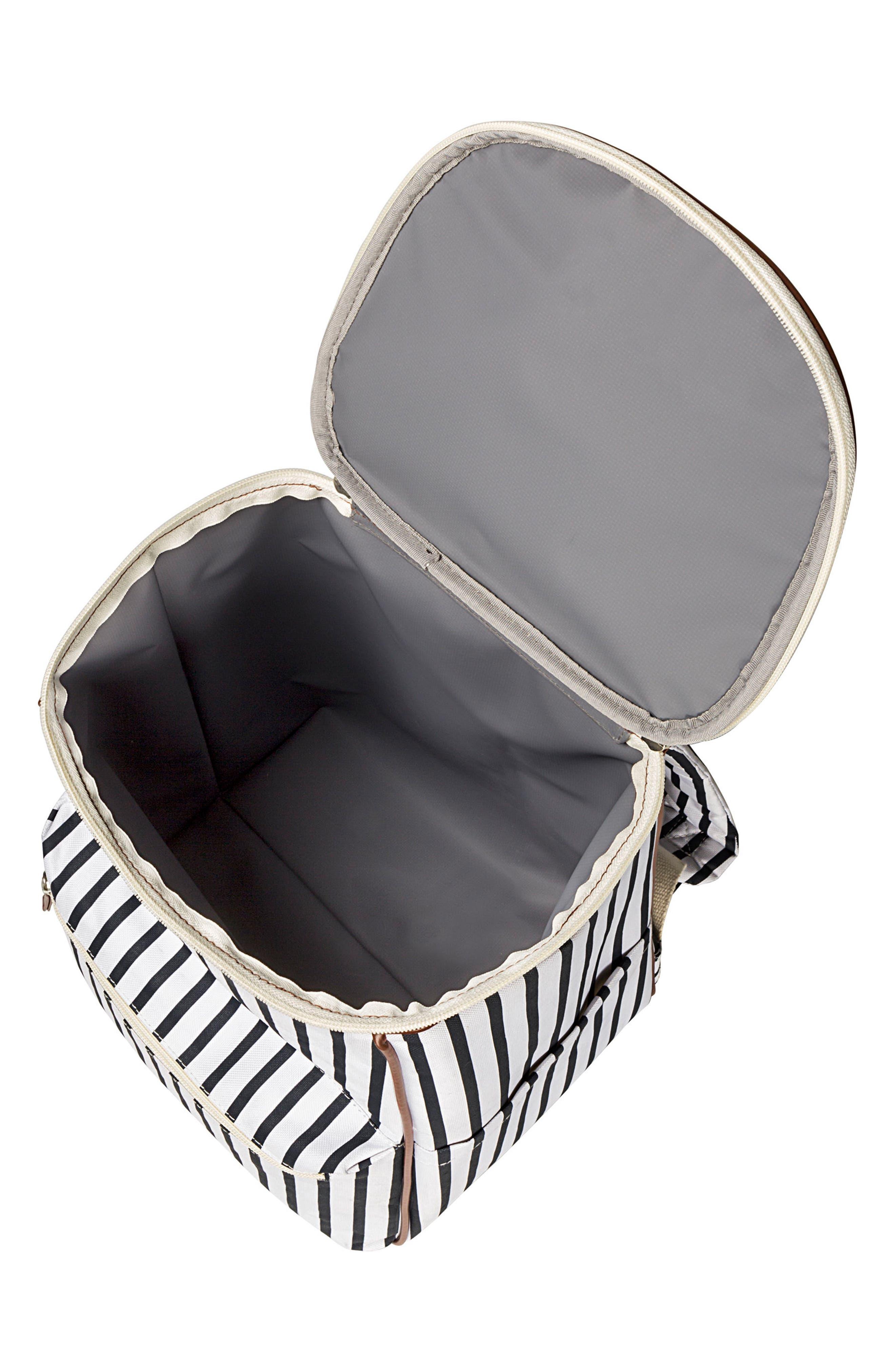 Monogram Stripe Backpack Cooler,                             Alternate thumbnail 4, color,