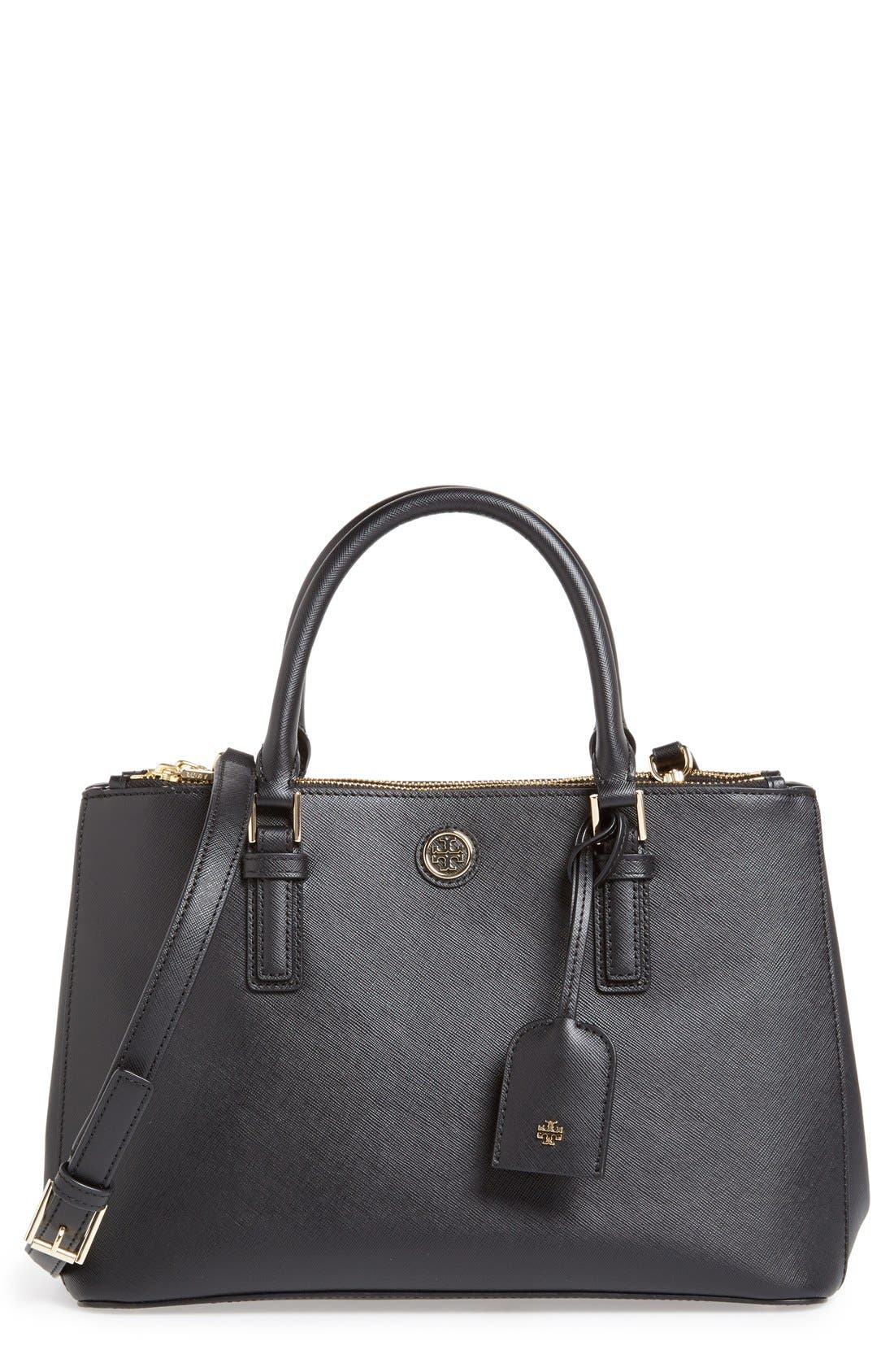Alternate Image 1 Selected - Tory Burch 'Mini Robinson' Double Zip Tote