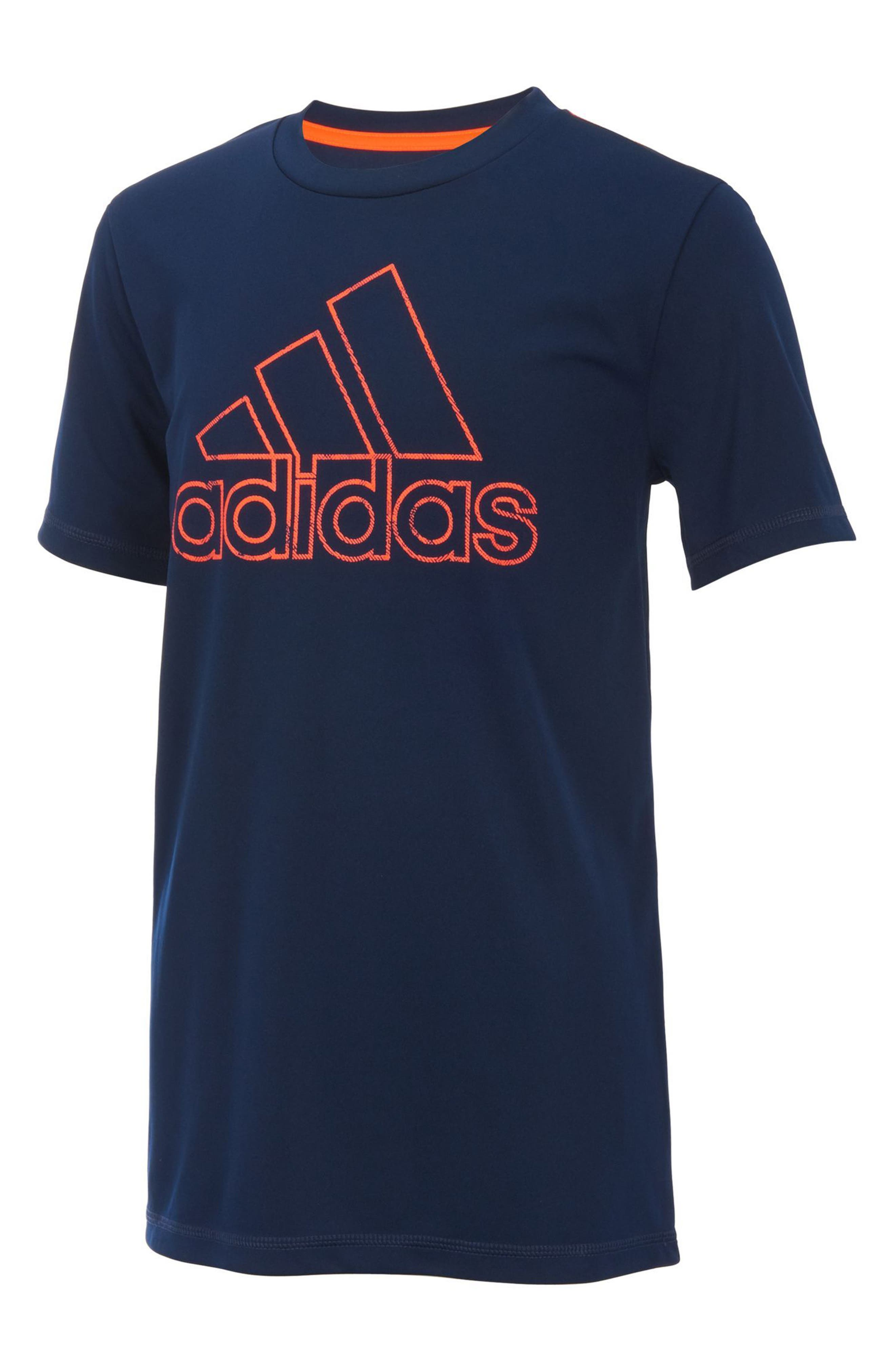 Logo T-Shirt,                         Main,                         color, Navy