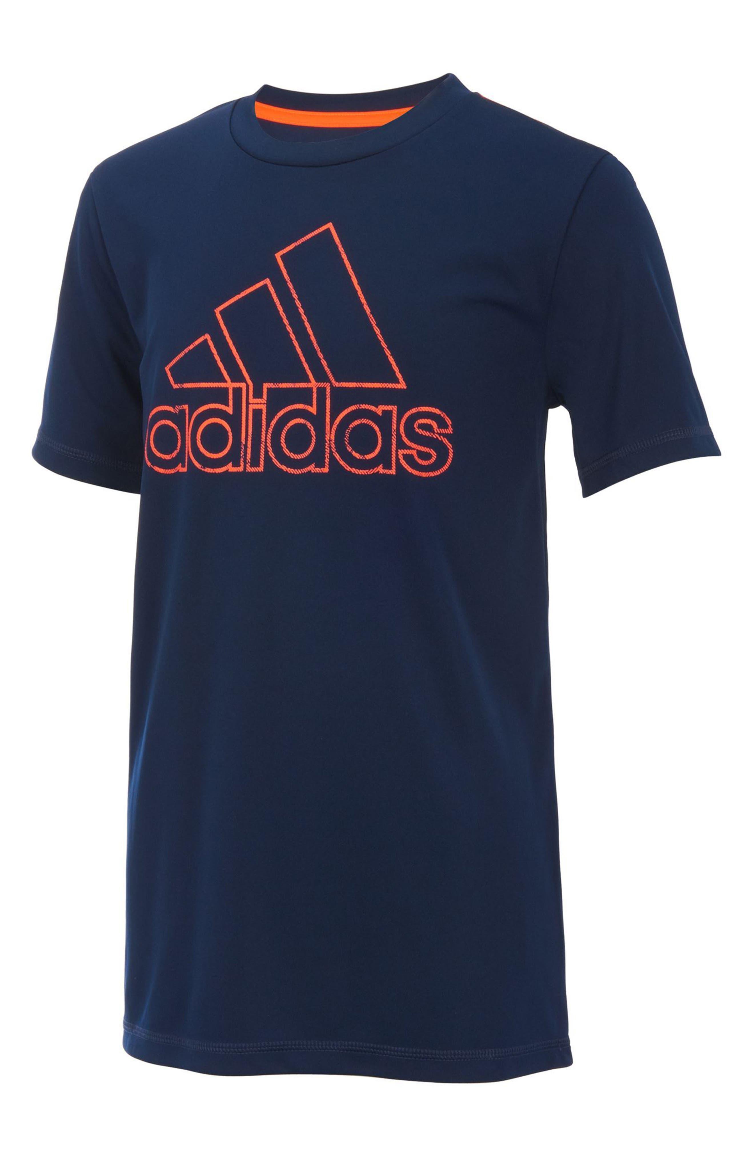 adidas Logo T-Shirt (Big Boys)