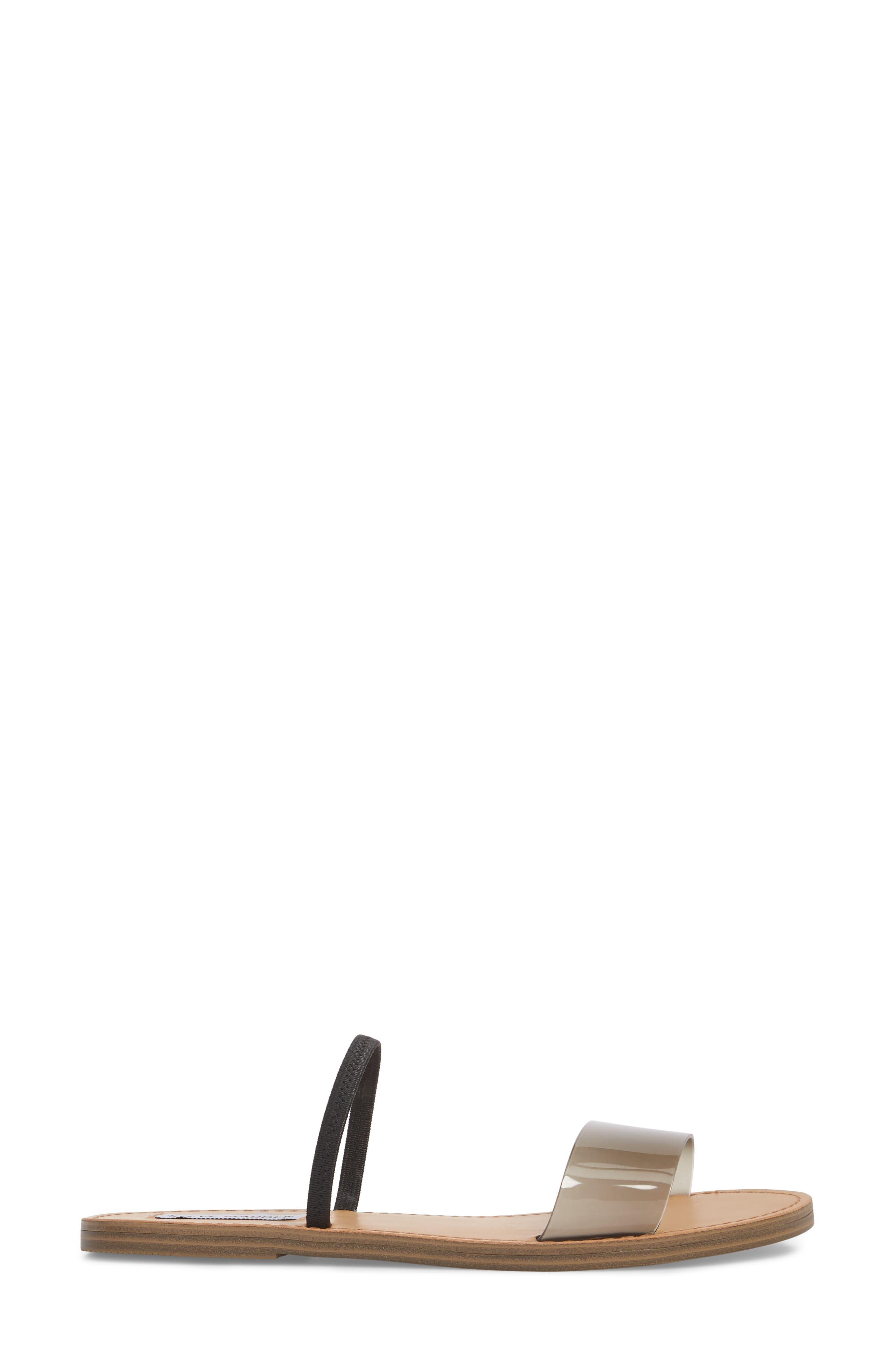 Dasha Strappy Slide Sandal,                             Alternate thumbnail 3, color,                             Smoke