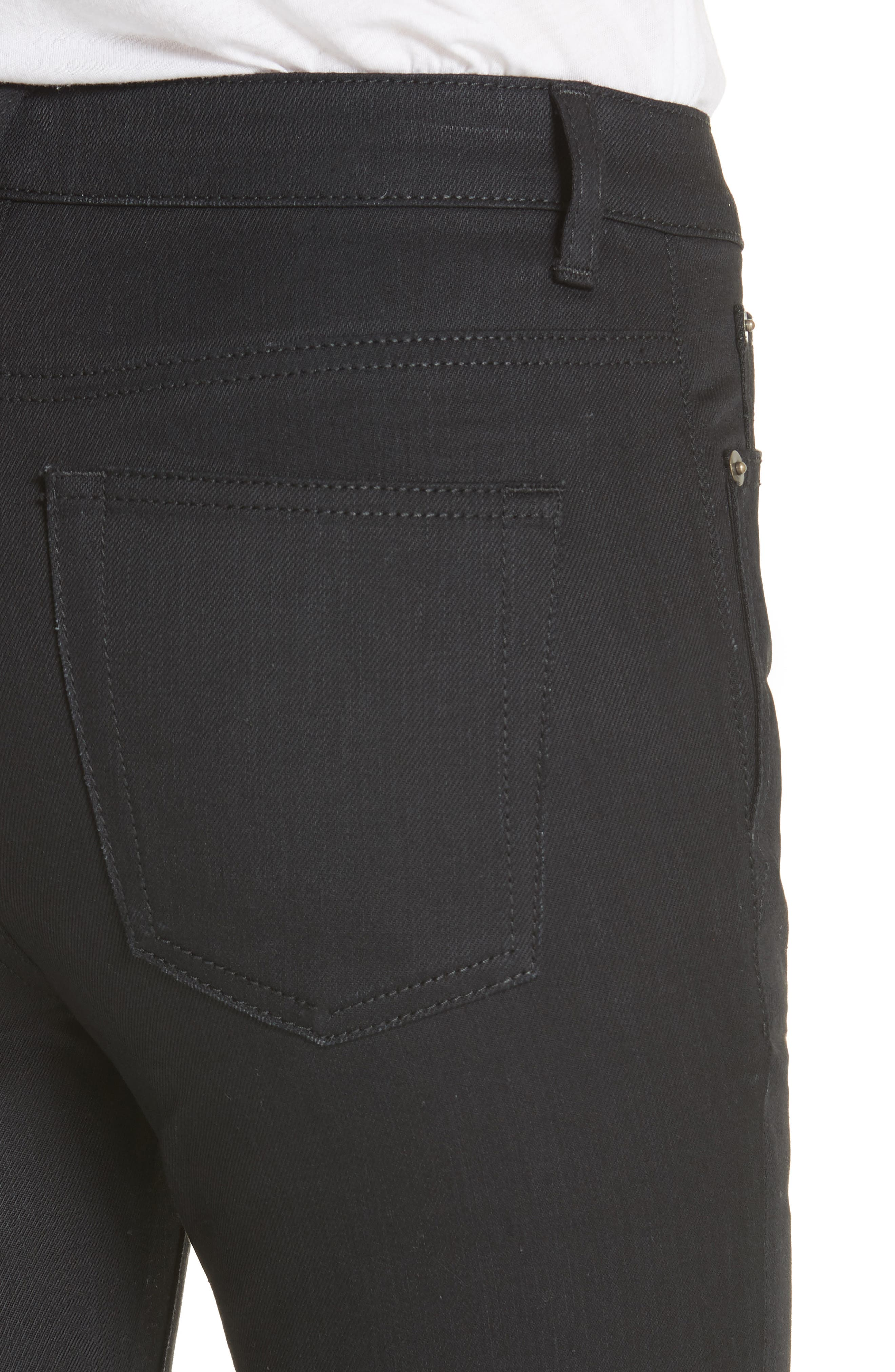 Coated Skinny Jeans,                             Alternate thumbnail 4, color,                             Used Black
