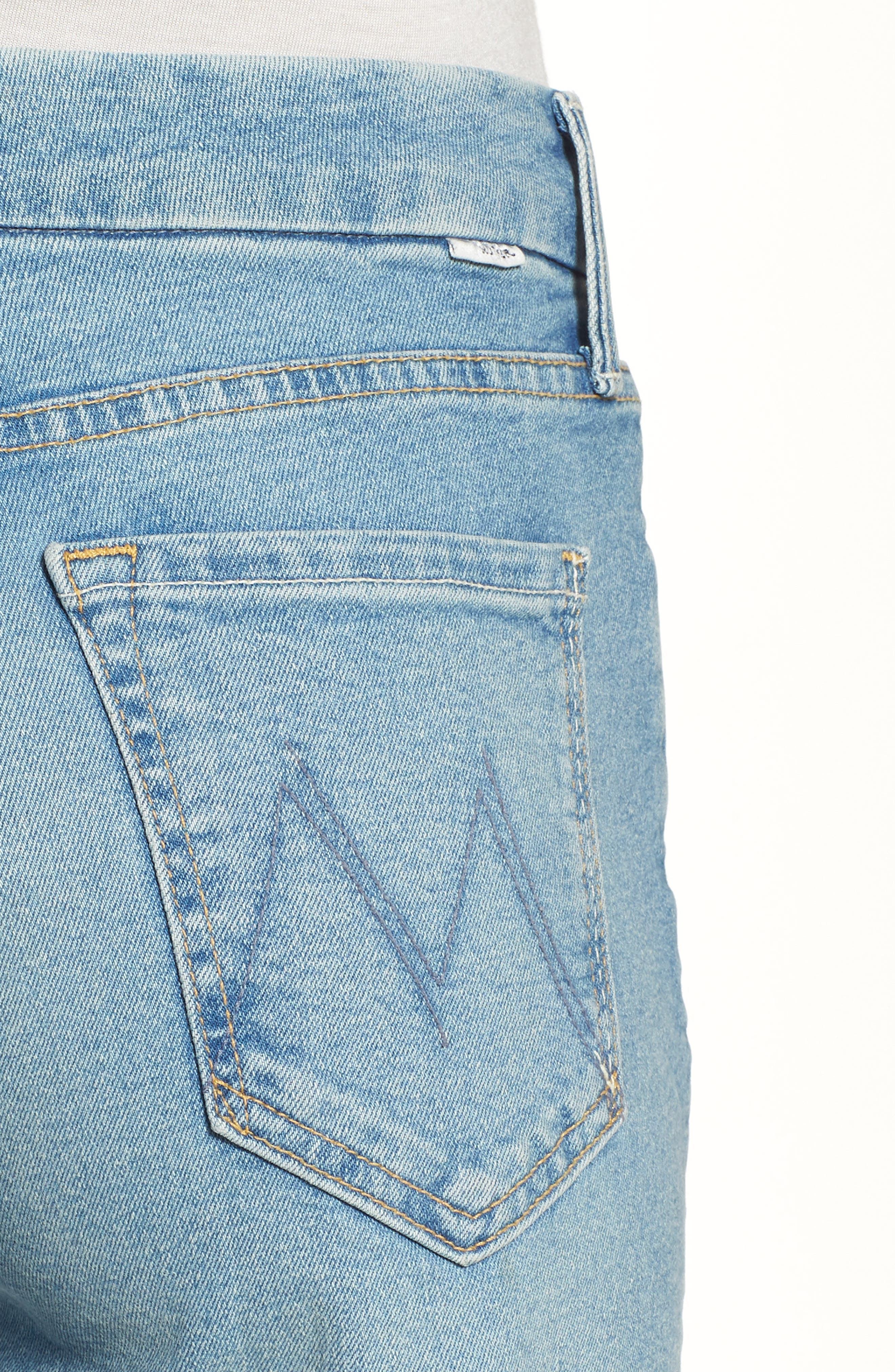 The Roller Crop Fray Wide Leg Jeans,                             Alternate thumbnail 4, color,                             Ready To Roll
