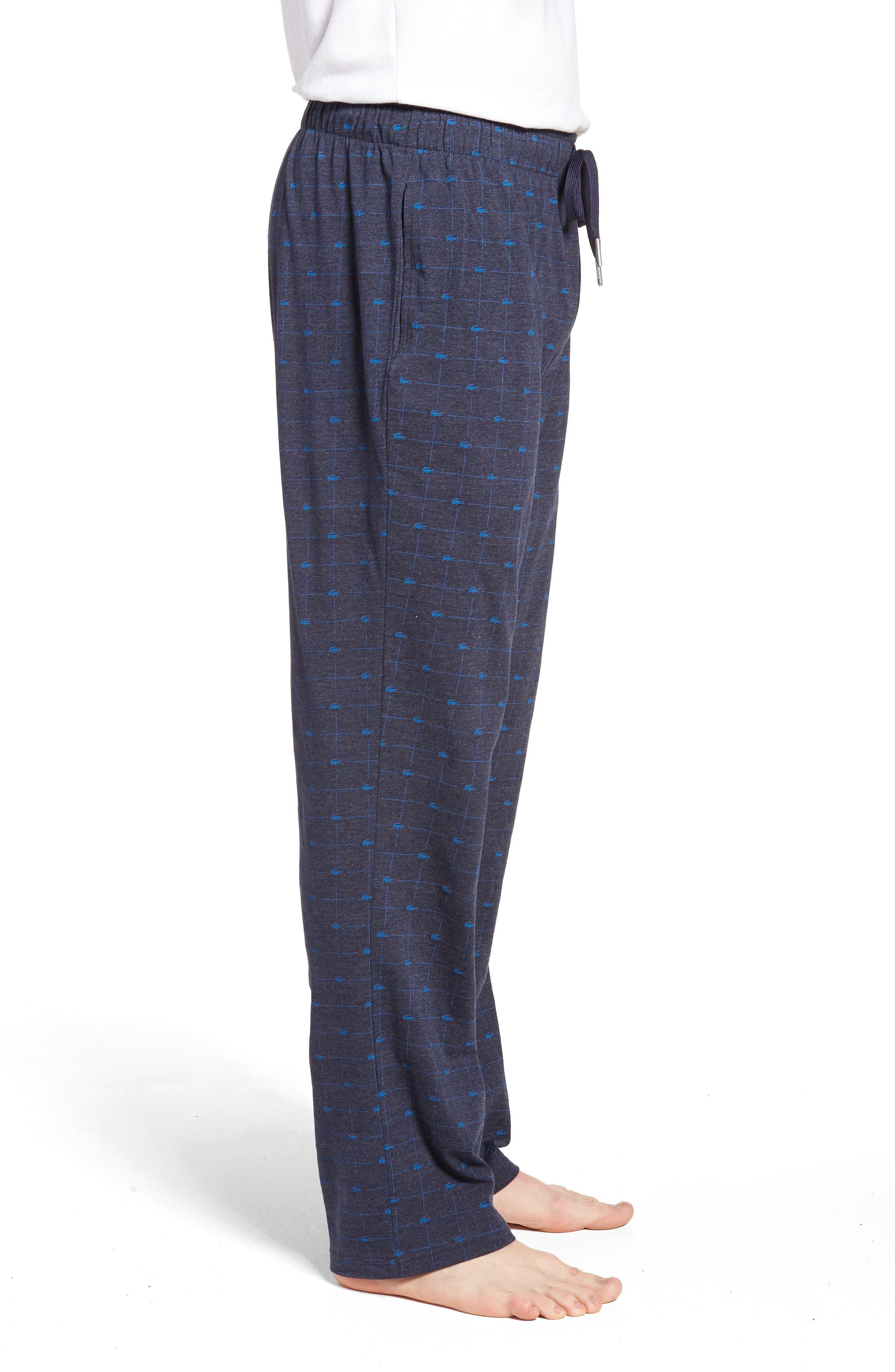 Print Lounge Pants,                             Alternate thumbnail 3, color,                             Classic Blue