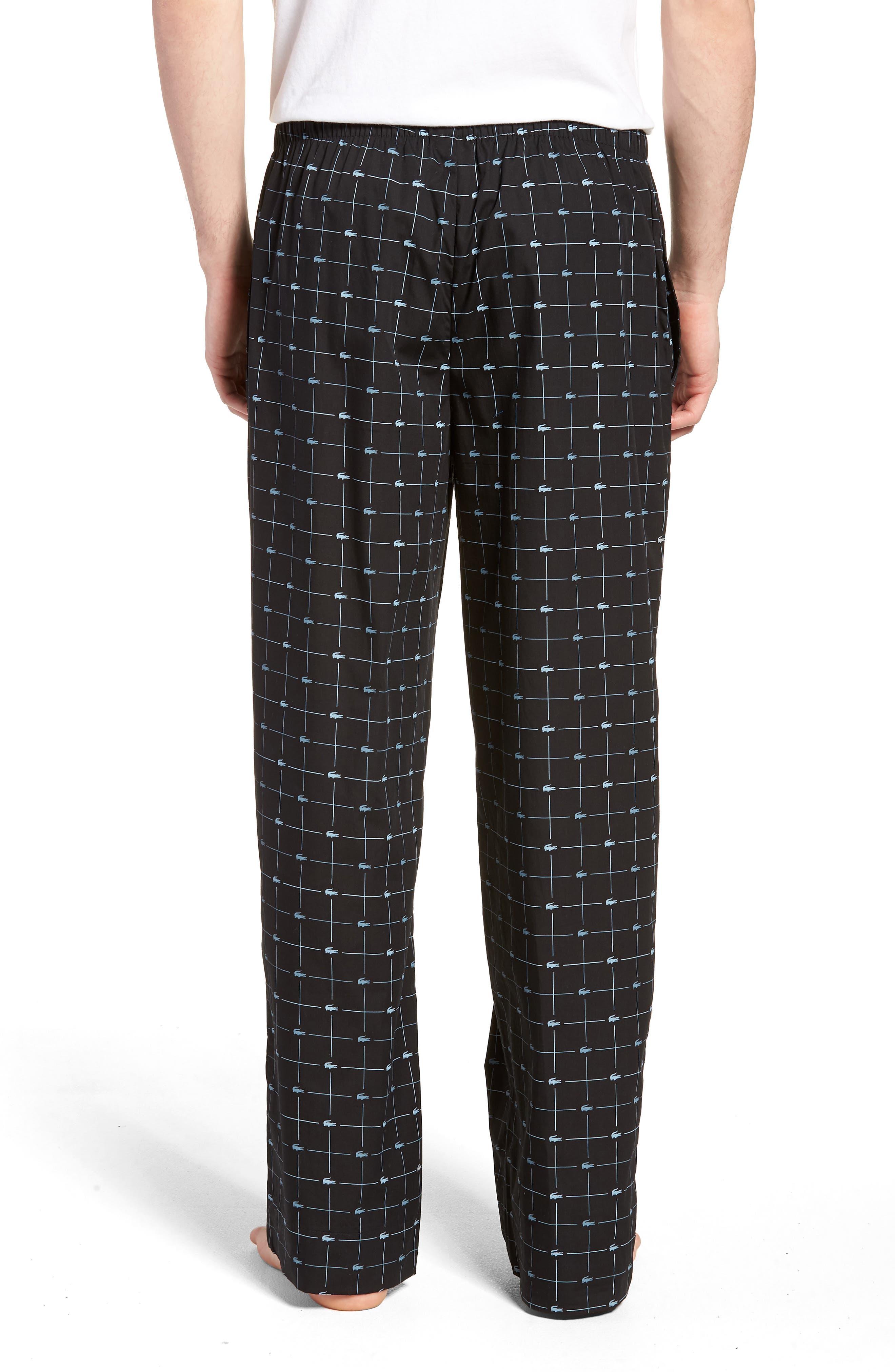 Print Lounge Pants,                             Alternate thumbnail 2, color,                             Black