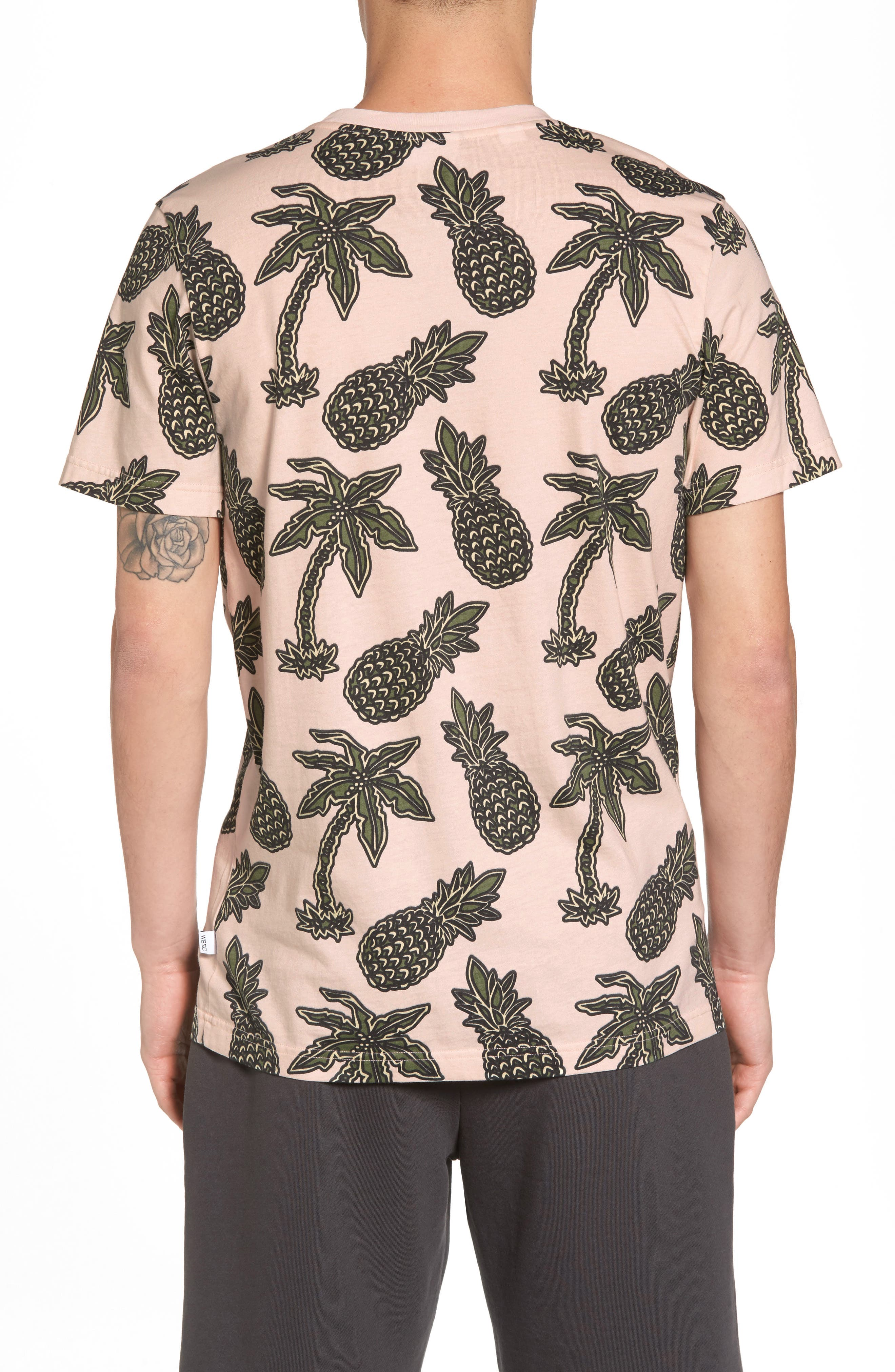 Maxwell Pineapple Print T-Shirt,                             Alternate thumbnail 2, color,                             Pineapple Pink