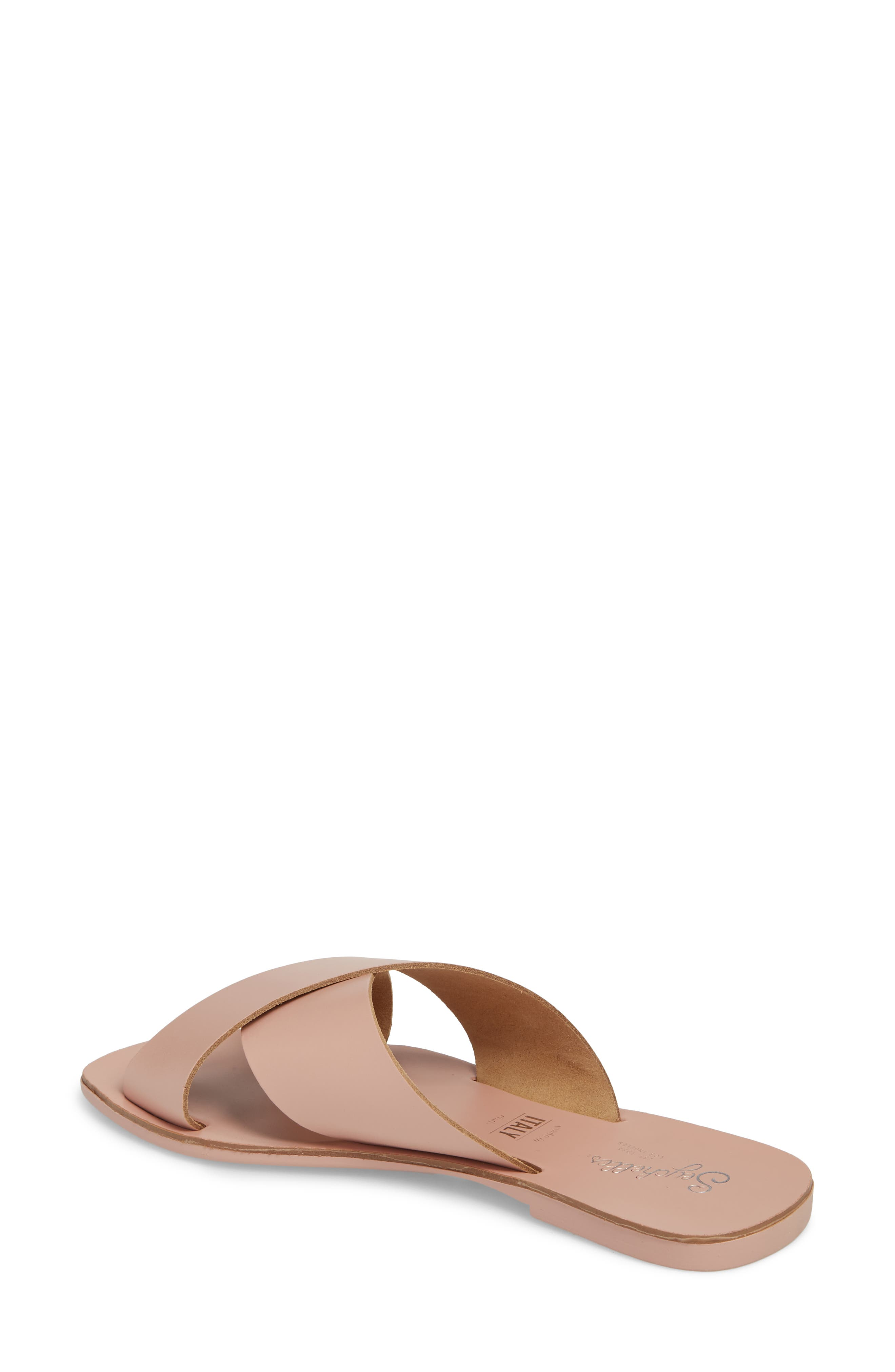 Total Relaxation Slide Sandal,                             Alternate thumbnail 2, color,                             Pink Leather