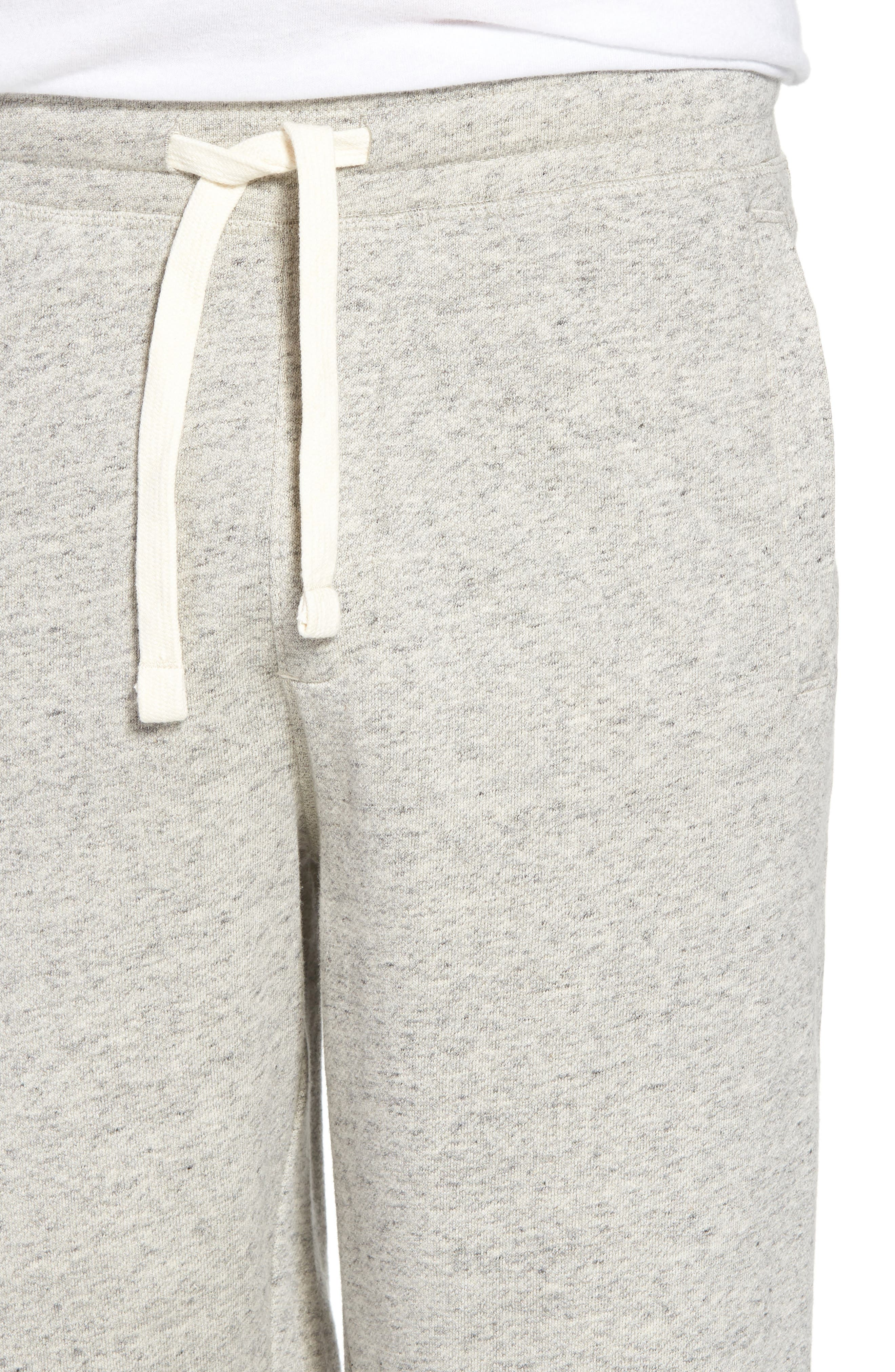 Stretch Cotton Terry Shorts,                             Alternate thumbnail 4, color,                             Grey Heather