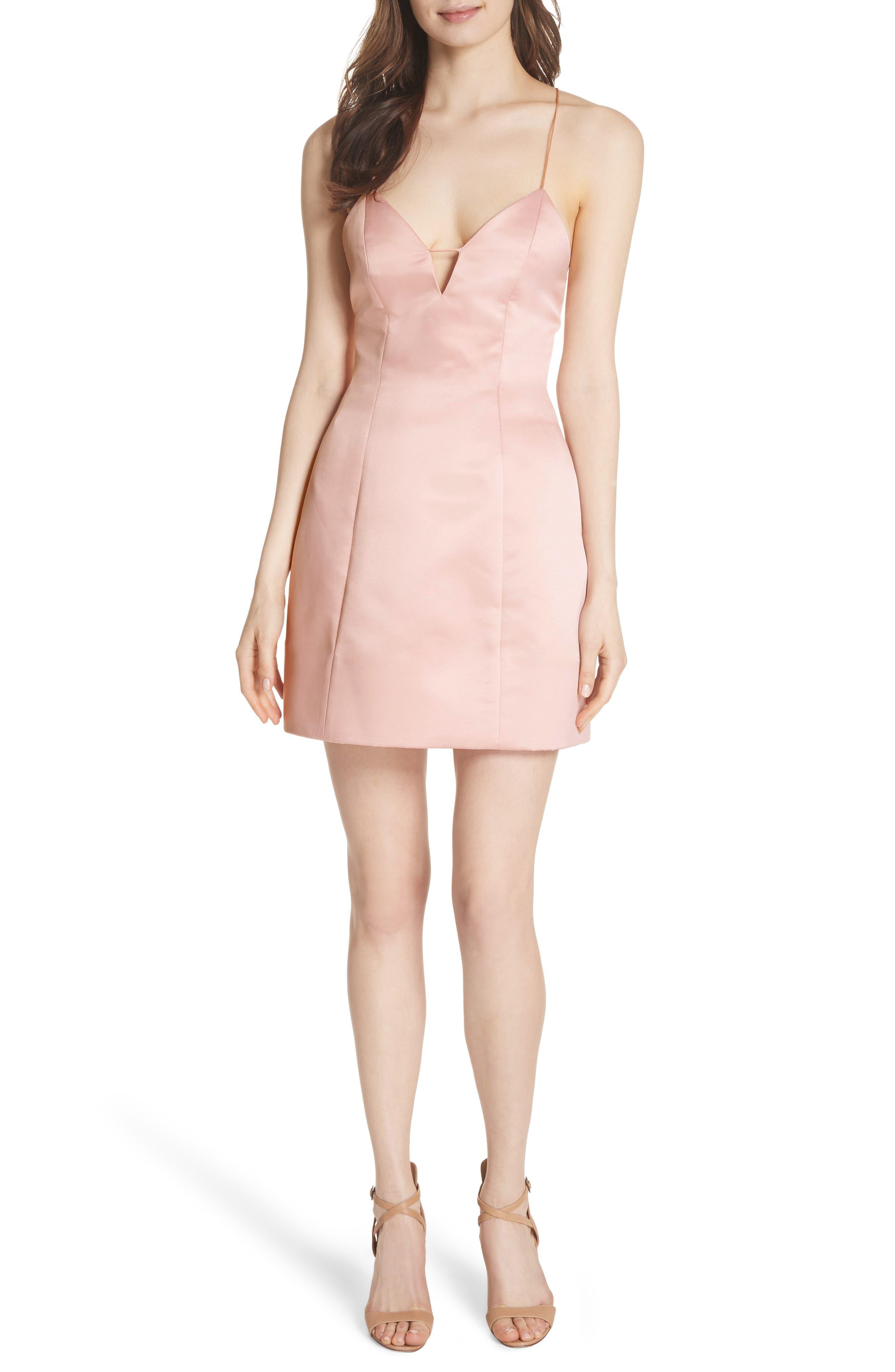 Pearl Minidress,                         Main,                         color, Blush