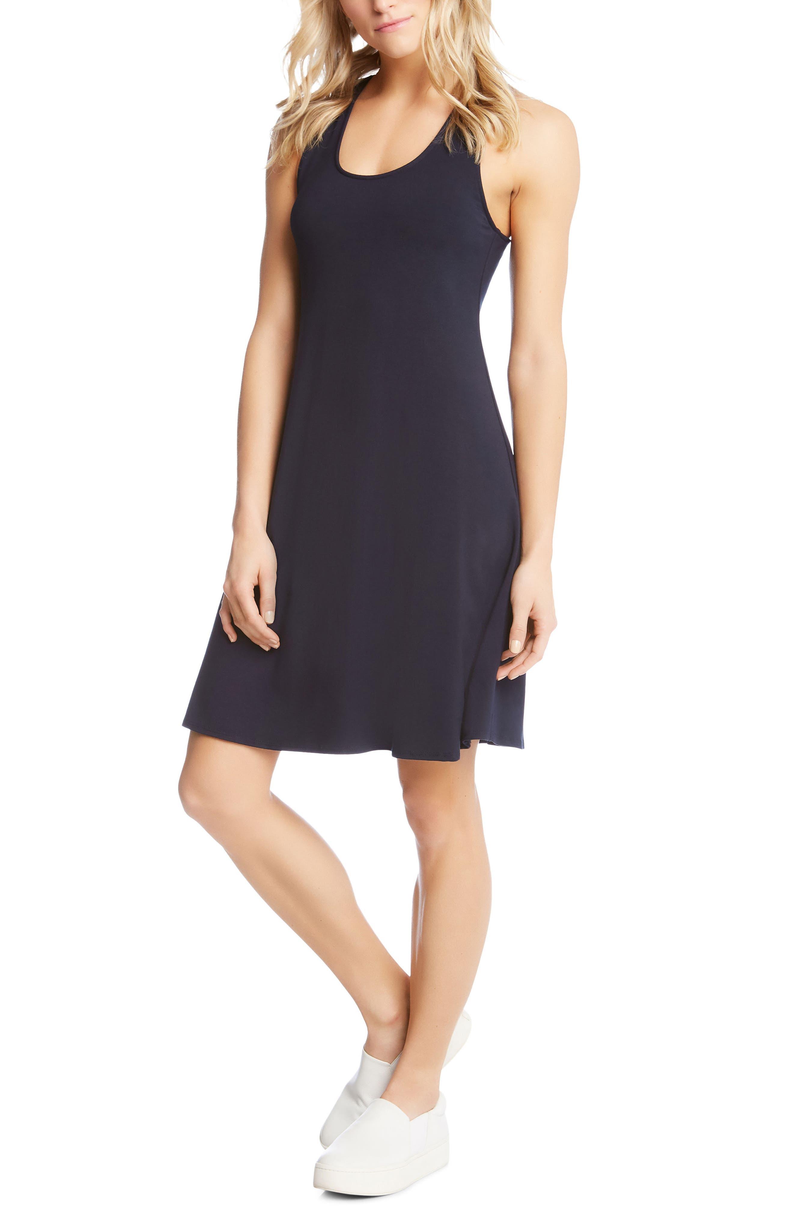 Cross Back Dress,                         Main,                         color, Navy
